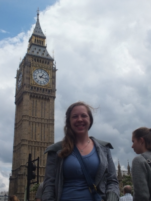 After researching all morning, Emily Gissendanner, a sophomore from NGU, and two students from Louisiana College traveled to London to see Big Ben, London's clock tower.