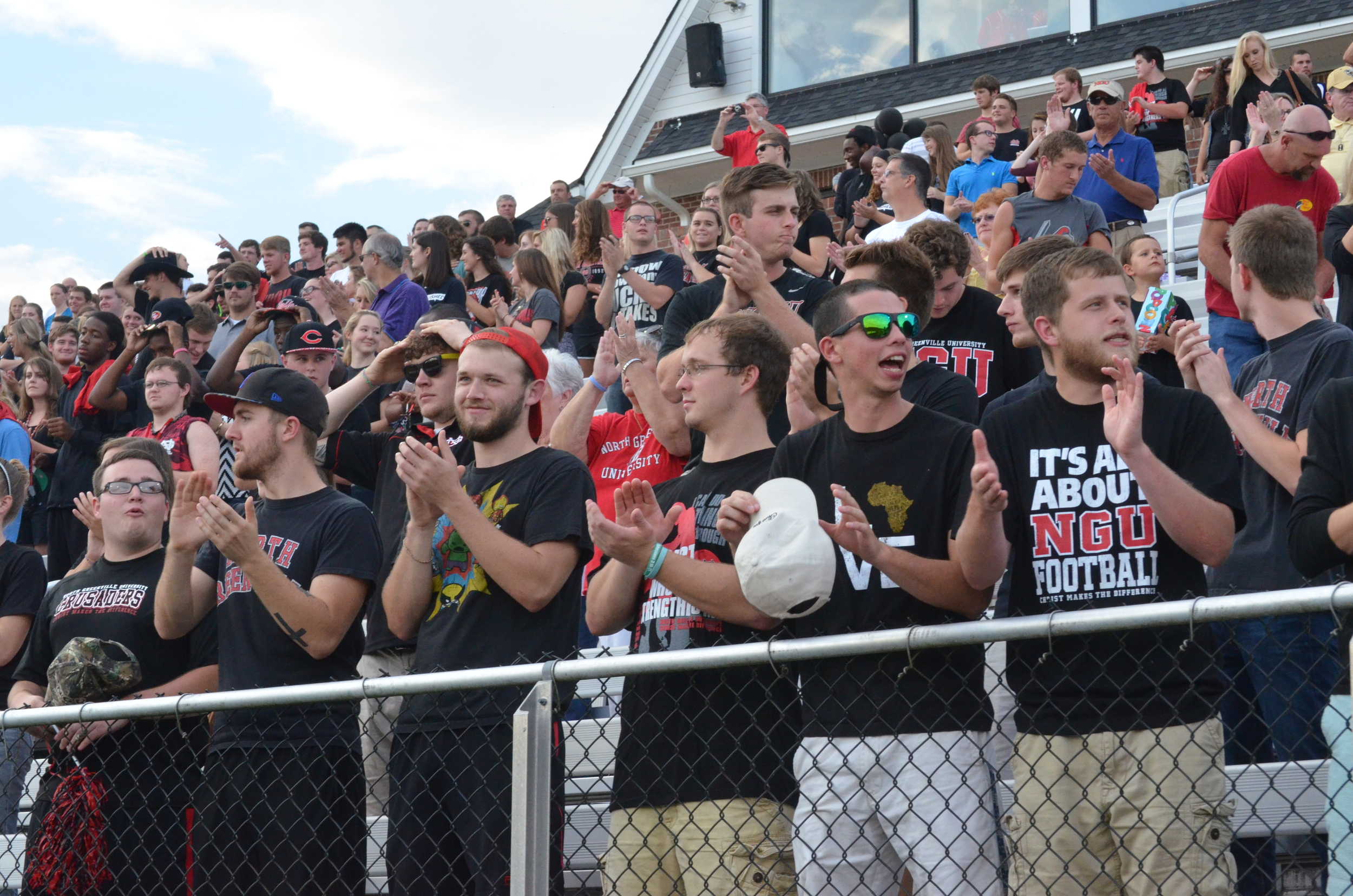 NGU students getting excited at the start of the game