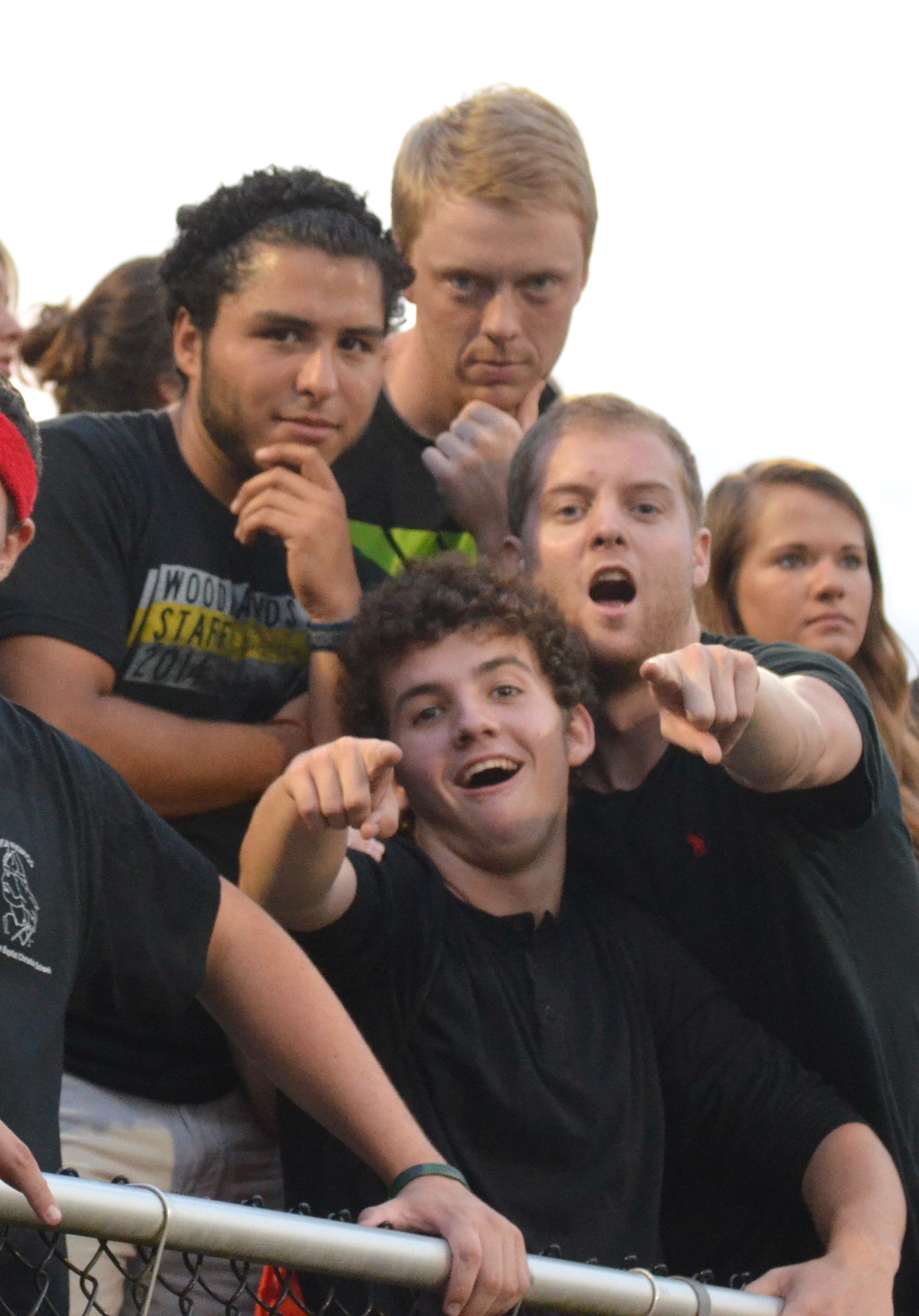A few select students make sure they have their game faces on