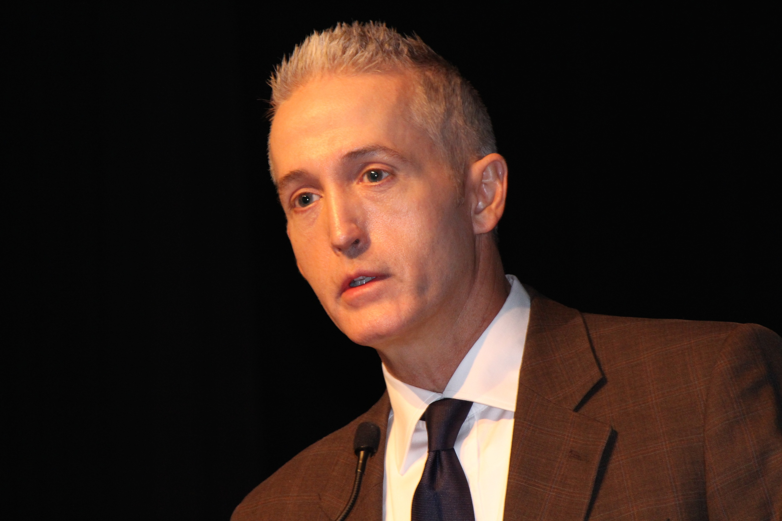 Photo Courtesy of Student Services  Congressman Trey Gowdy speaks to students at NGU in a recent chapel service about getting active in politics.