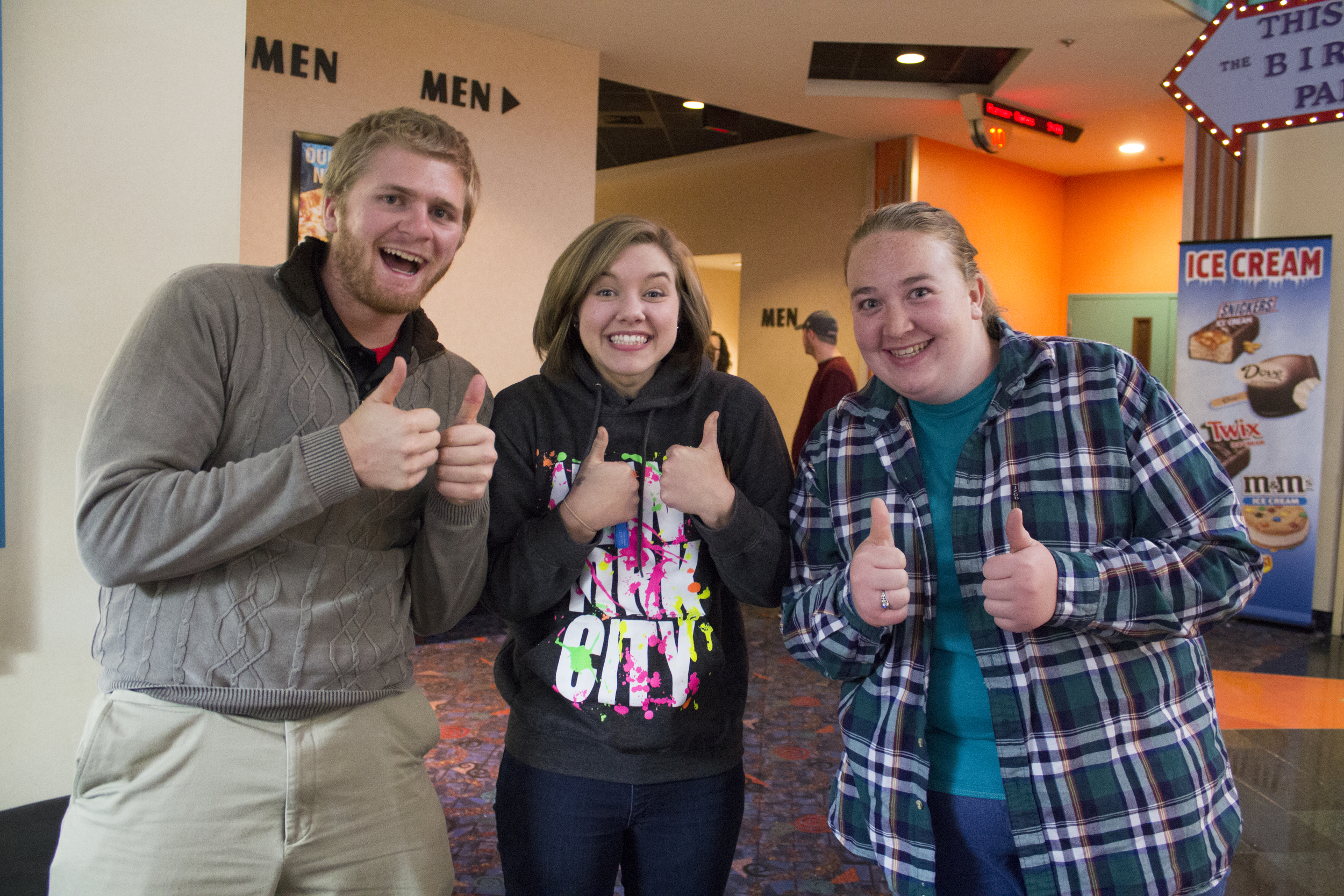 """Sophomores Matthew Mckay, Sela Estell and Sarah Howard are excited to see what """"Mockingjay Part I"""" has in store for them."""
