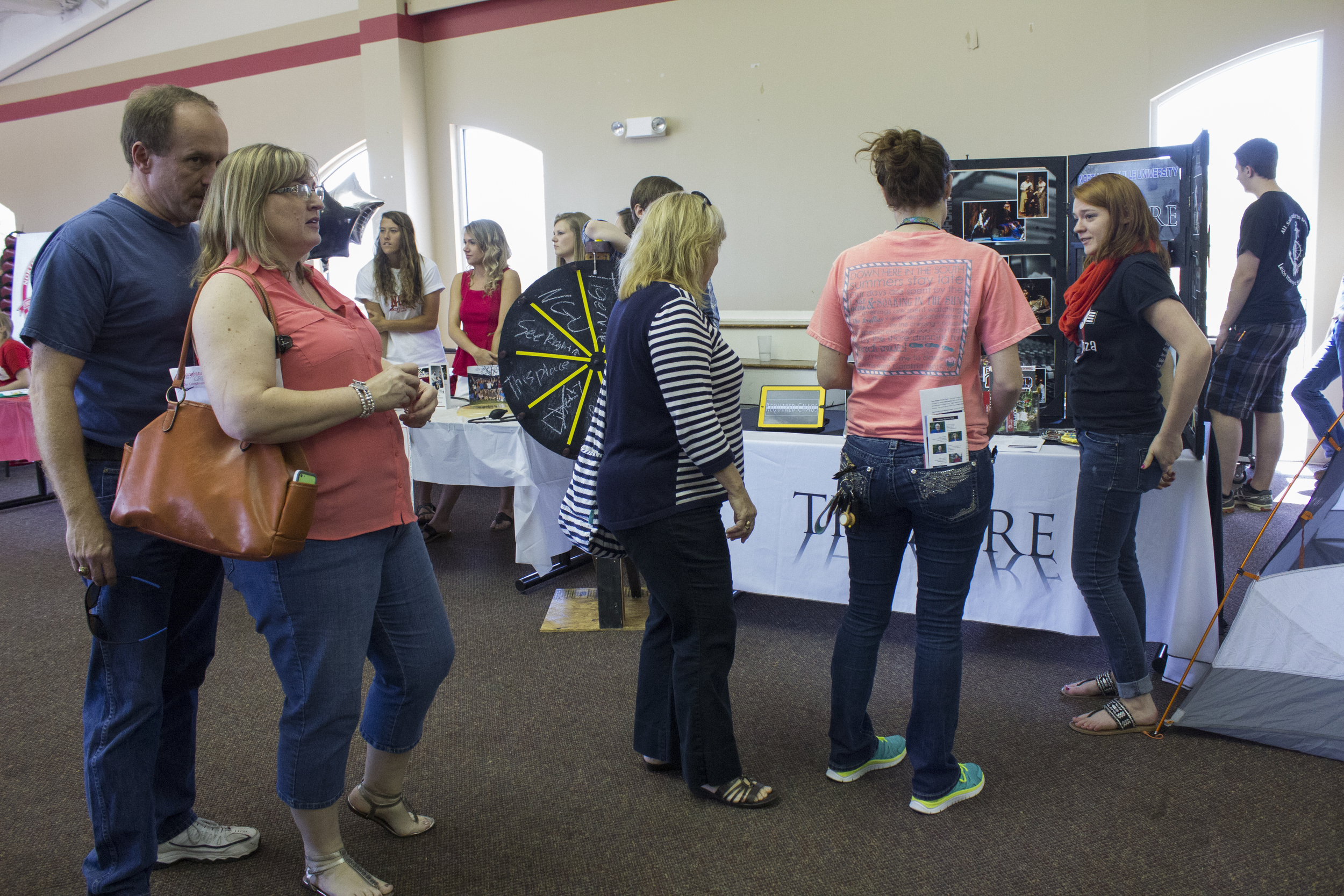 Students at thetheatre booth explain what theatre has the ability to do at the NGU campus.