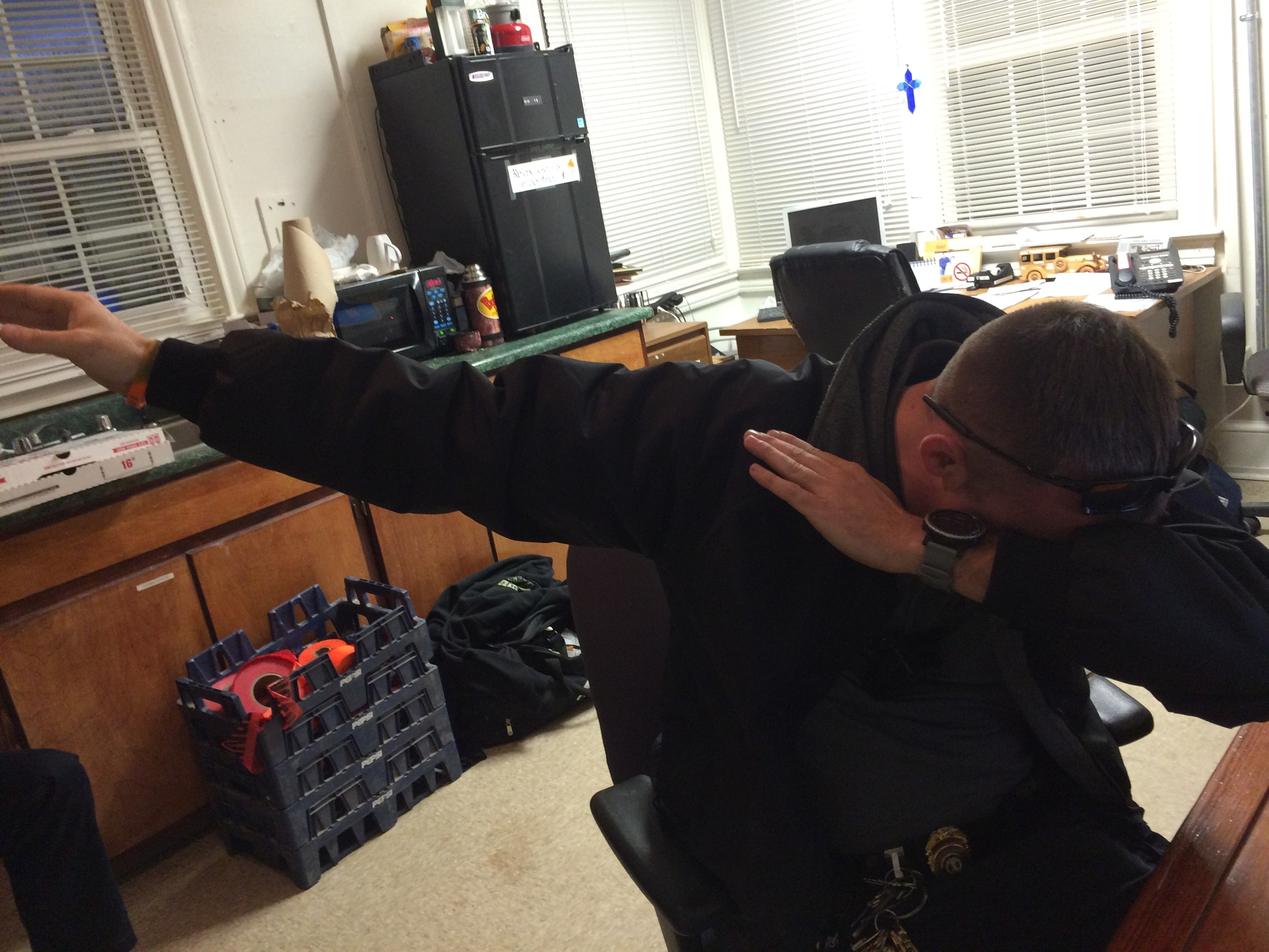 Corporal Wayne Craft poses the dab