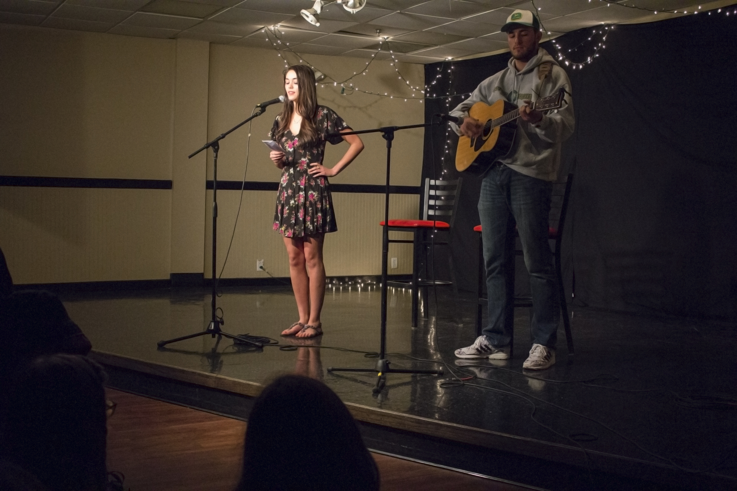 Crystol Potter and Mac Bradley perform a duet.