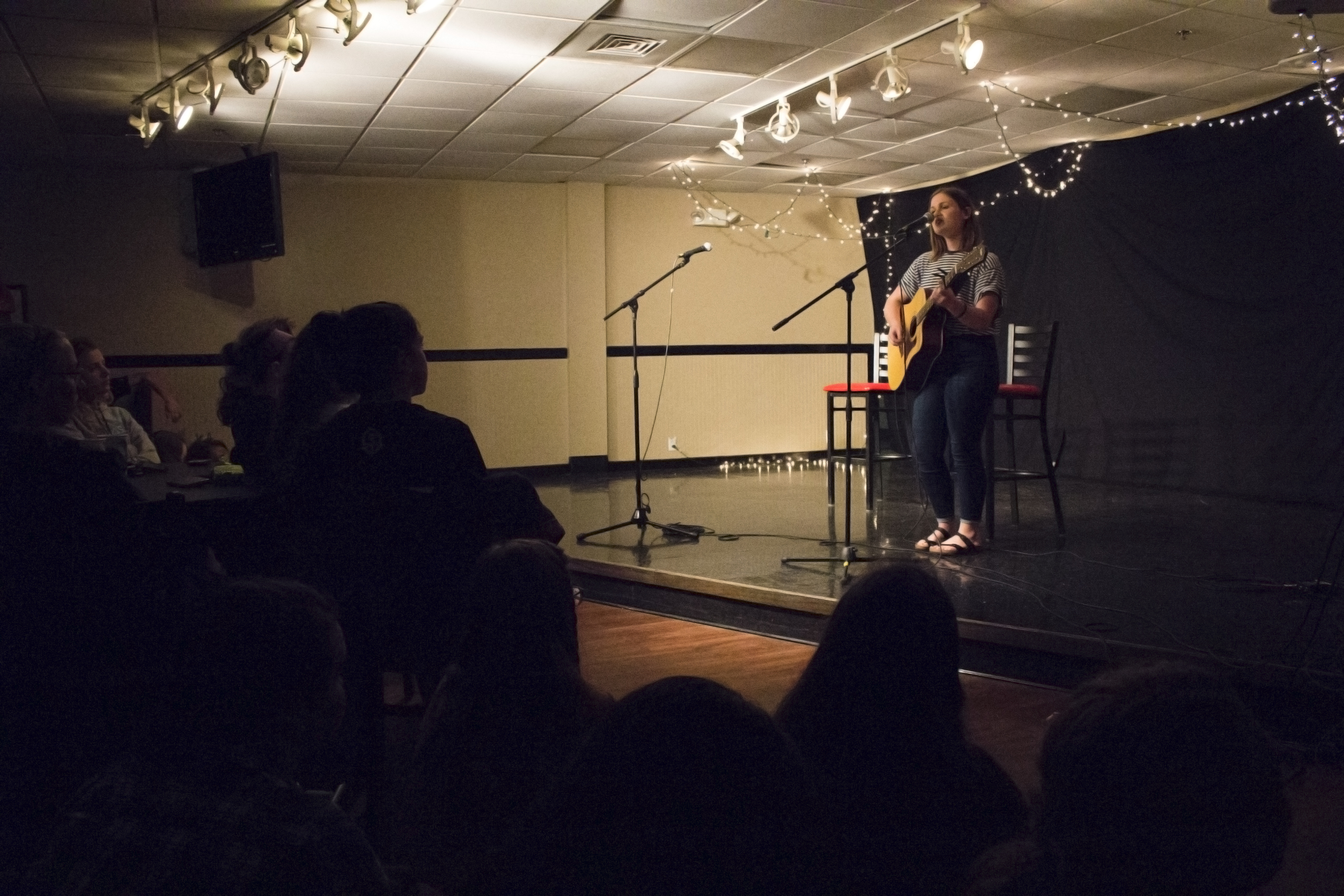 Morgan McNorrill rocks the stage by bringing back some old school Adele.