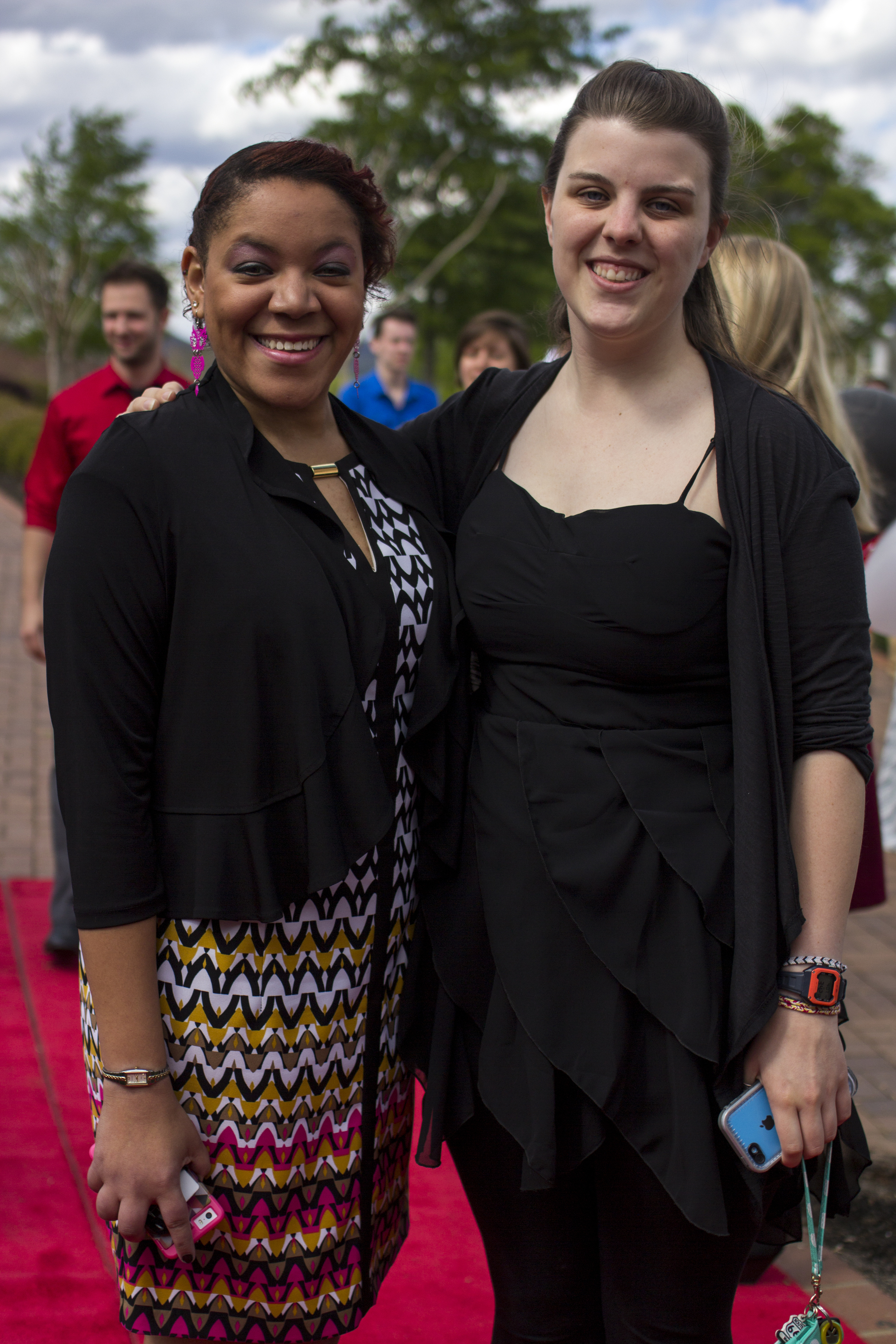 Torey Brown and Missy Roberts take a moment to smile for the cameras during their red carpet moment.