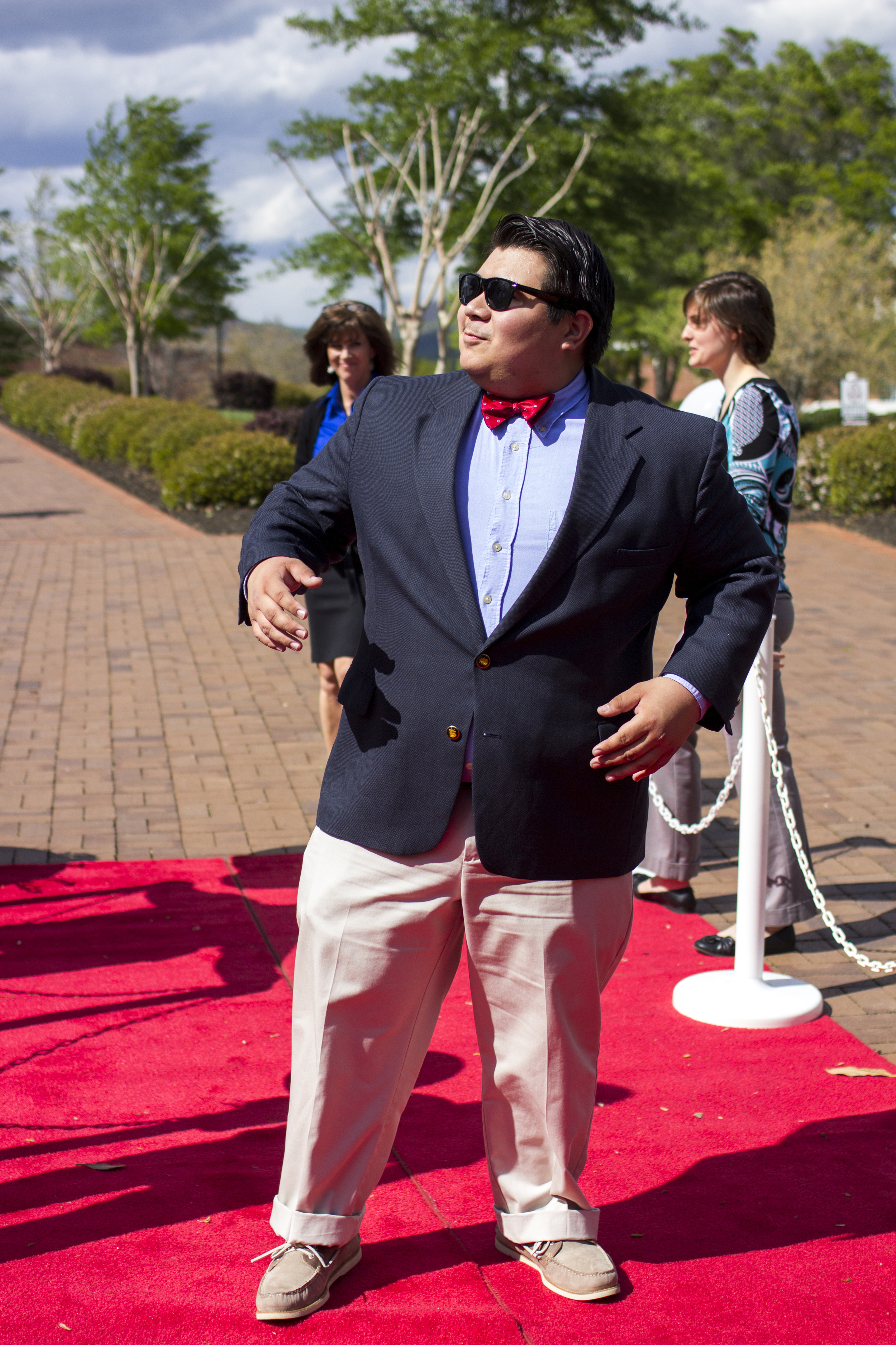 Pedro Mateo shows his natural,I-was-born-for-this-life pose as he enters into the film festival.