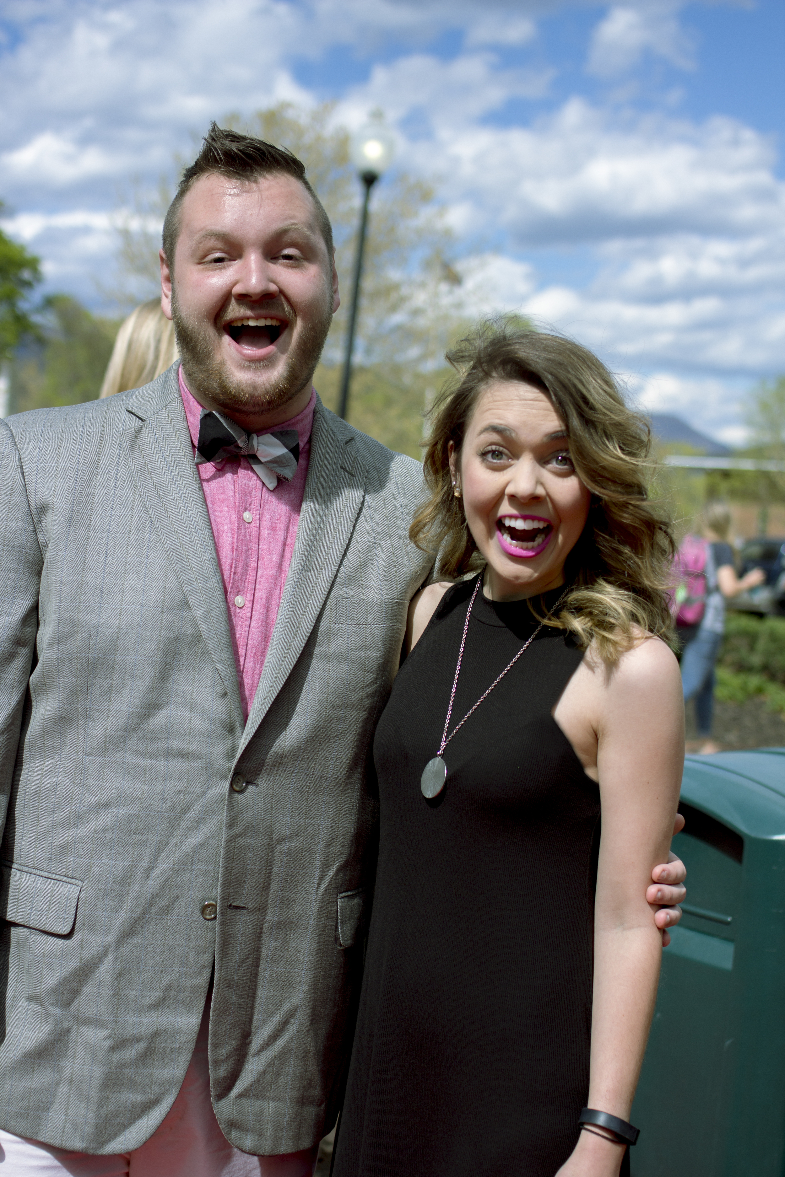 Adam Polk and Carlee Colvard don't shy away at the opportunity to look spiffy, but rather enjoy going all out at the opportunity to dress their best. They show their enthusiasm at the chance to attend the red carpet event.