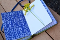 A handmade journal from Freedom Leather.