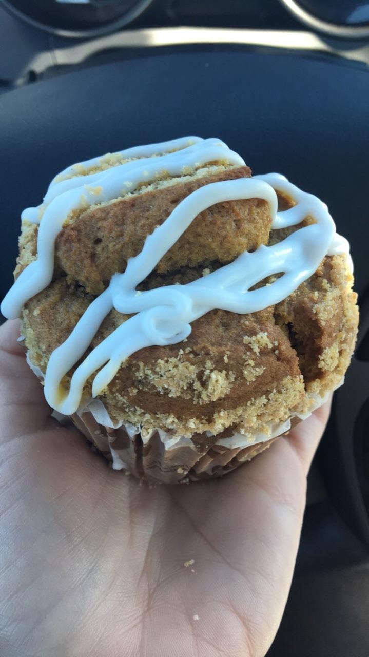 Pumpkin Creme Muffin from Dunkin Donuts