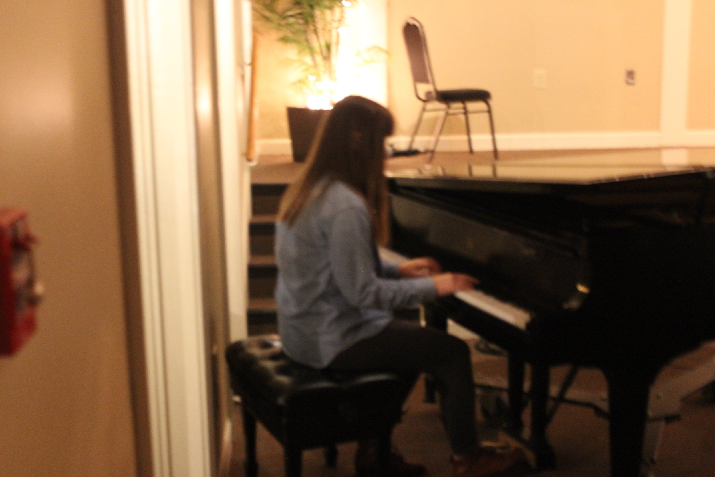 Morgan McNorrill showcasing her beautiful voice and amazing piano skills.