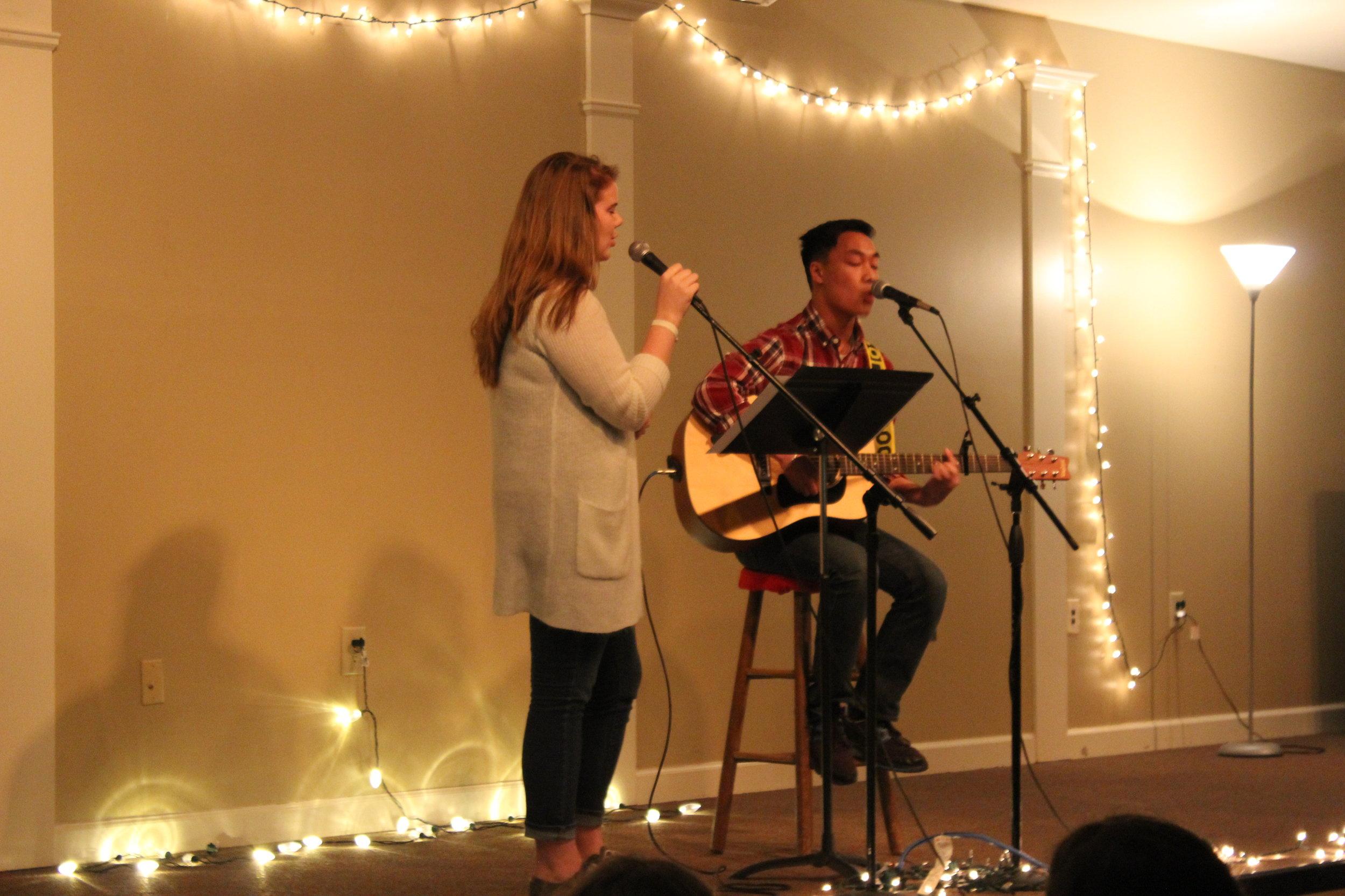 Adam Kelly and Harley Watkins singing an amazing duet.