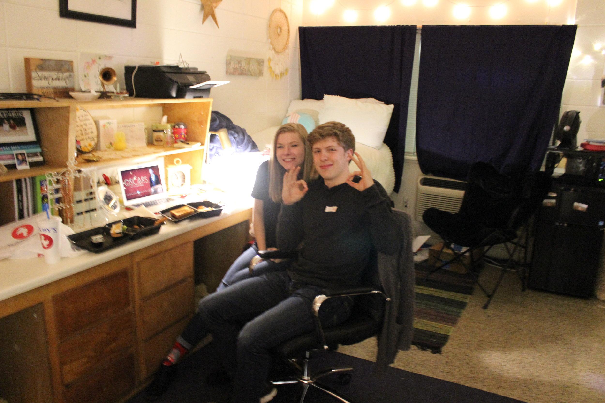 Olivia Katrosh is with her valentine Joel Dickey.