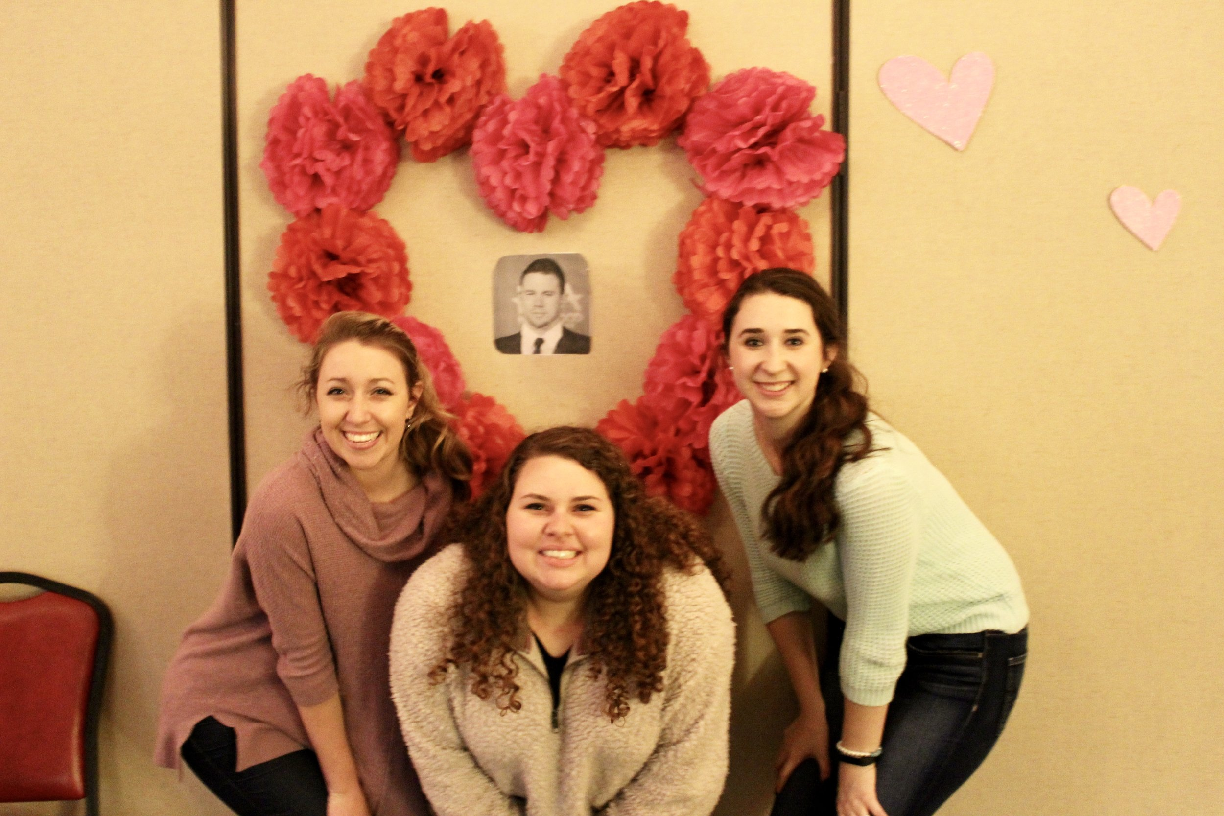 Hayden Harris, Christy Owenby and Emily Barnhill wish Channing Tatum was actually there.