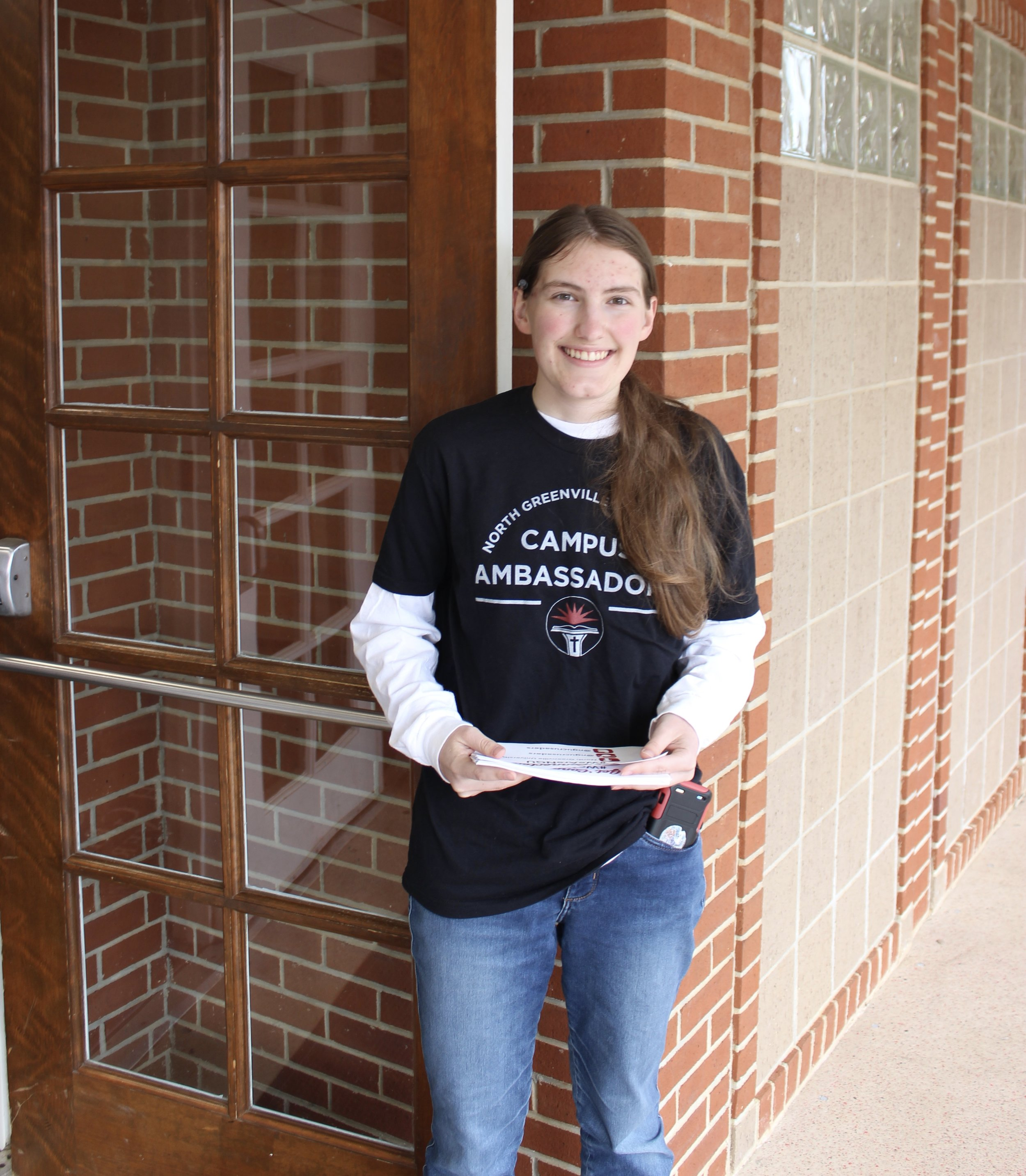 The open house was made a success through the hardworking and welcoming  campus ambassadors  such as Karley Conklin.