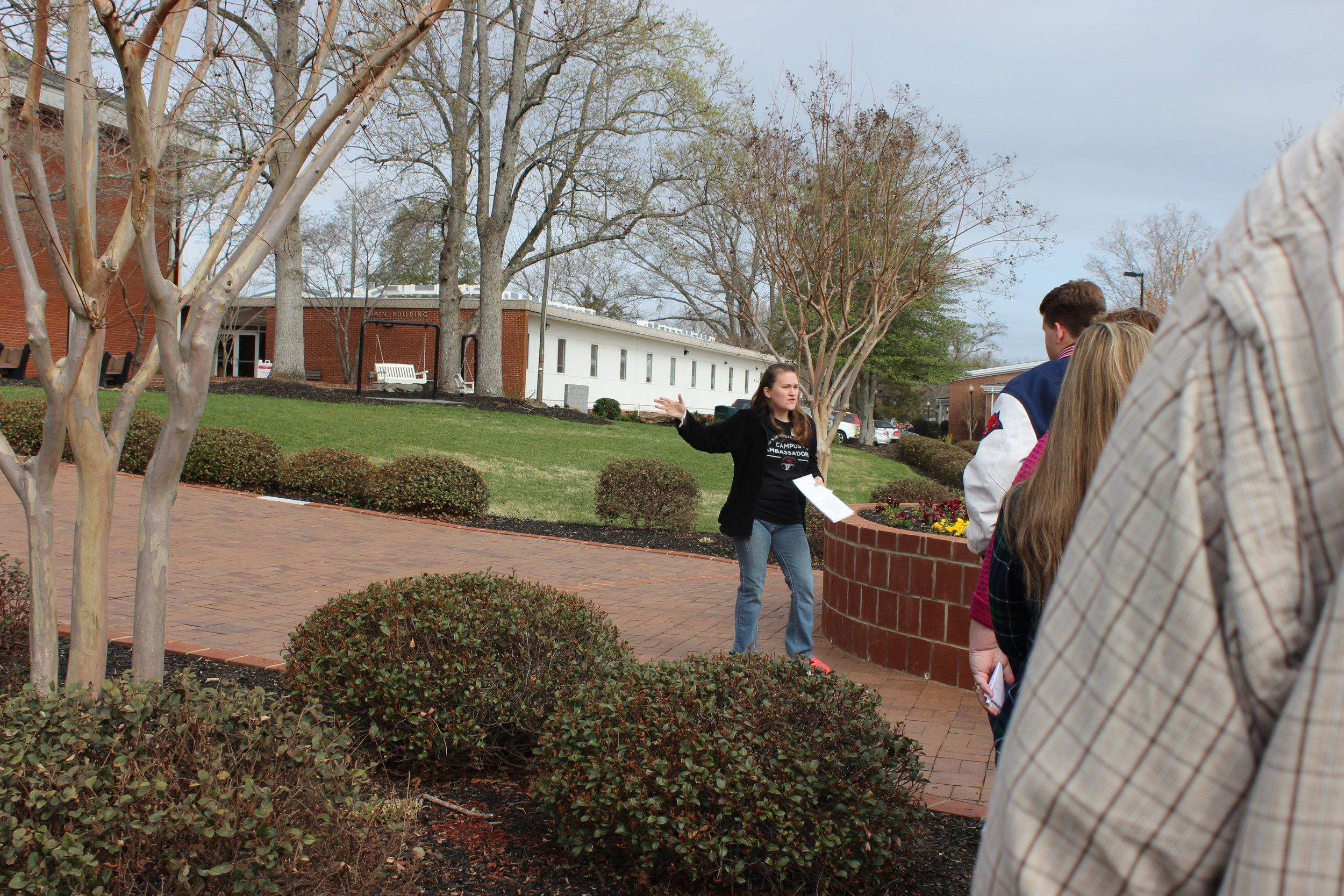 Abigail Johnson led a fantastic tour, ensuring that her group had fun while they learned about NGU.