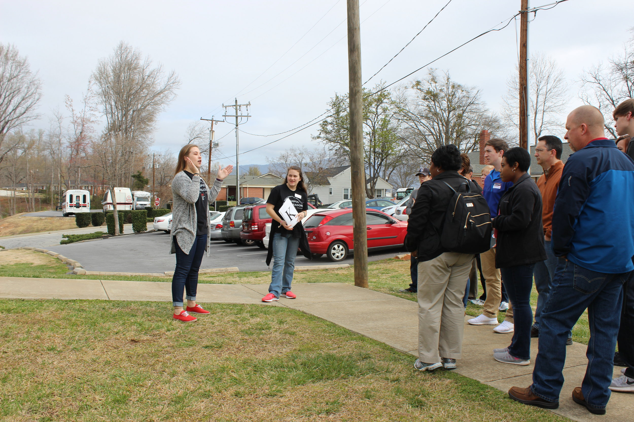 Tours were able to walk through an  NGU dorm  to see what living on campus is really like.