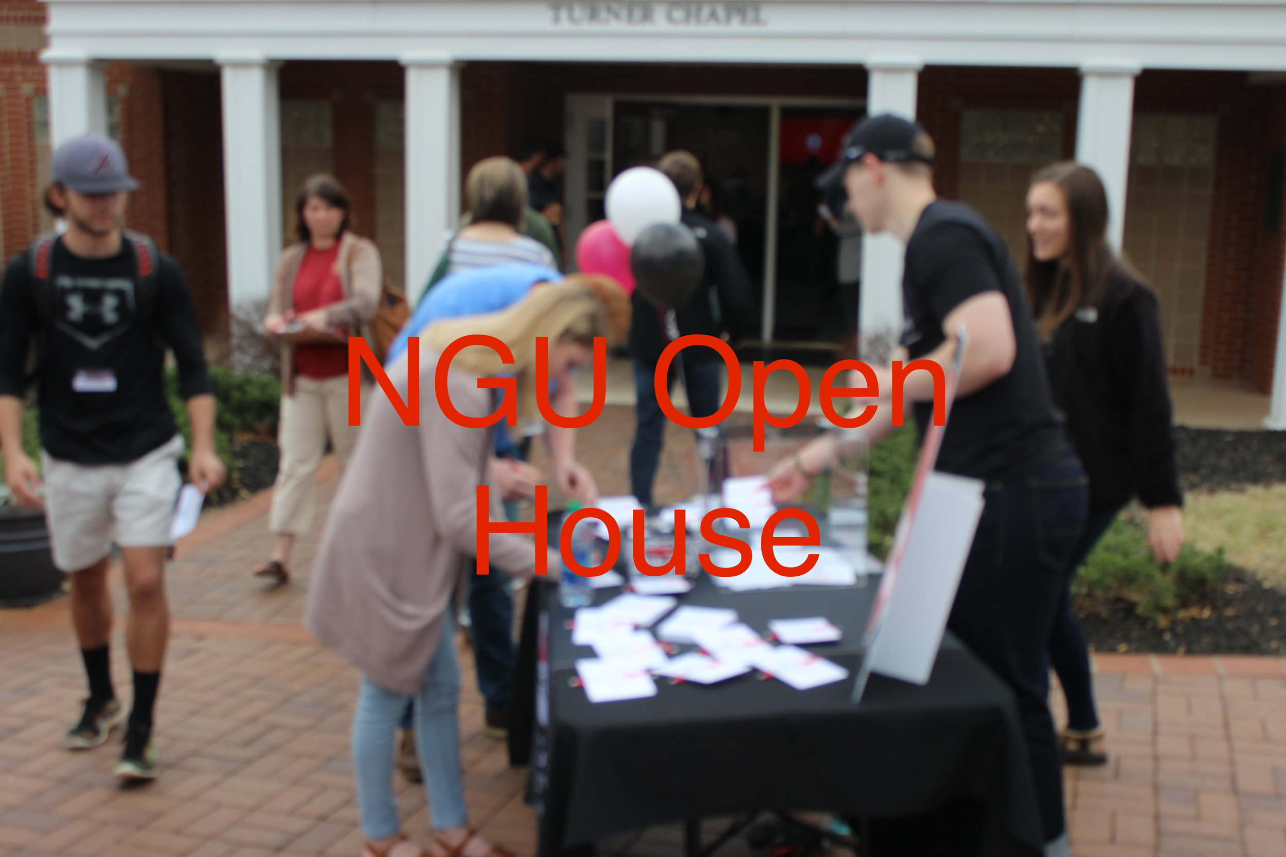 Prospective NGU students join the campus' first ever Friday open house.