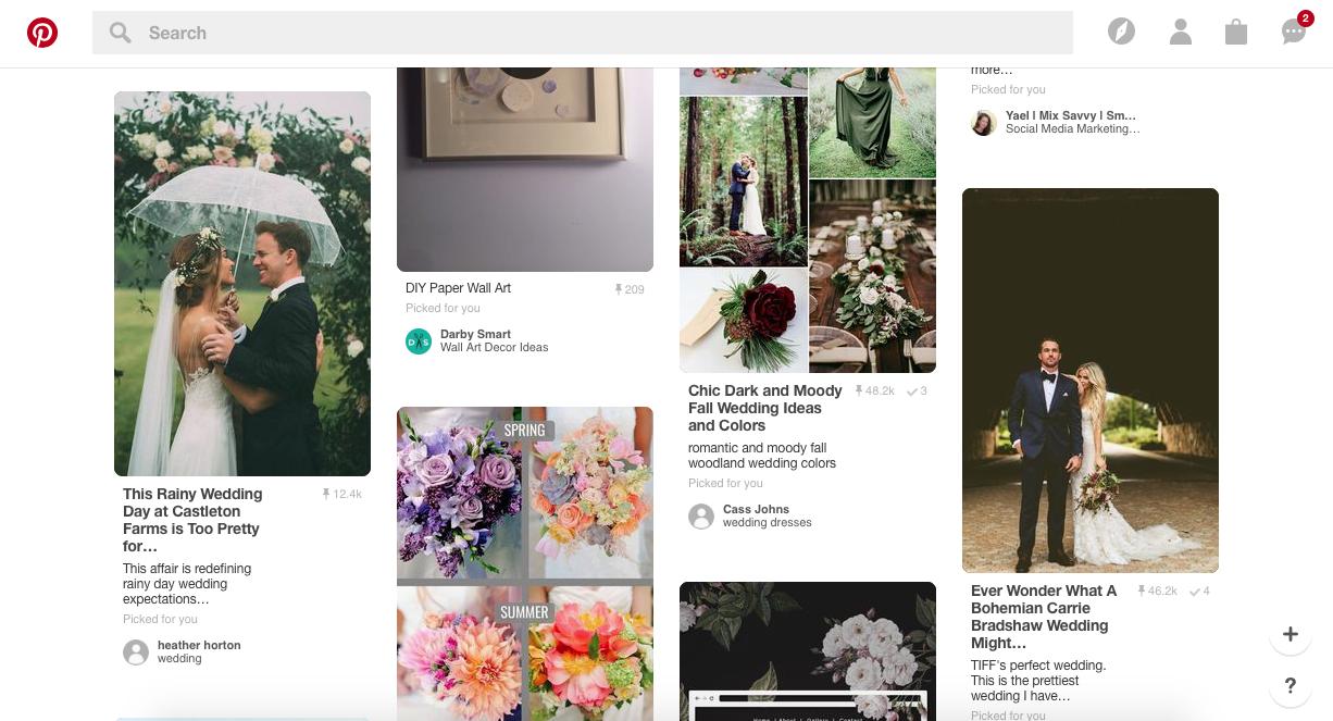 Screenshot from Pinterest