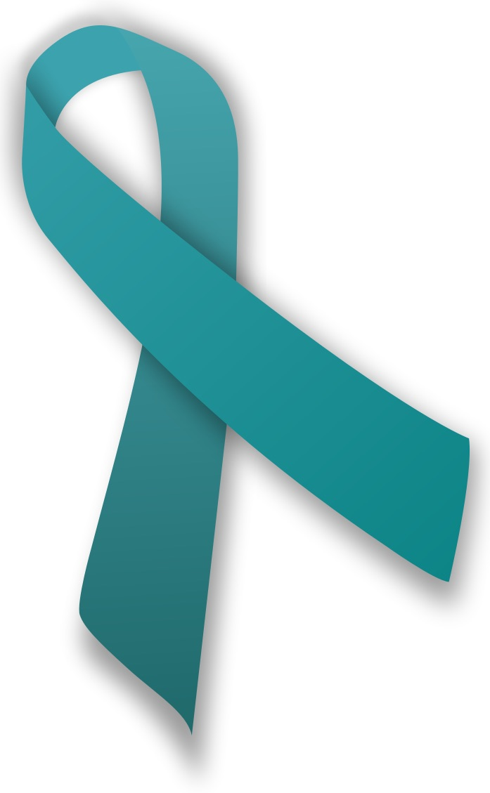 Photo courtesy of Wikimedia Commons  The color for Ovarian cancer awareness is teal.