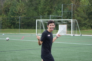Kike in his element on the soccer field