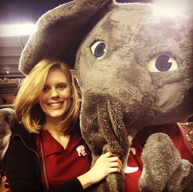 Sarah Black enjoys an Alabama game in 2013.