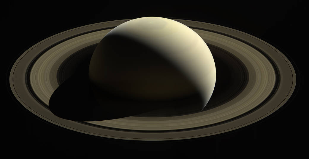 """1. """"So Far From Home""""   Cassini captured this breathtaking picture of Saturn and its rings on Oct. 28, 2016."""