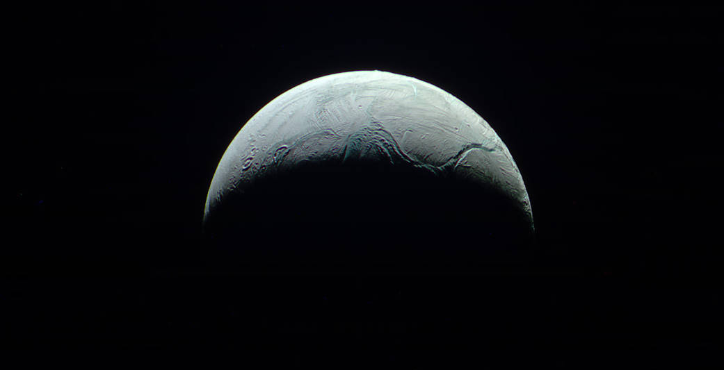 """5.  """"Nevertheless, It Moves""""   An up-close look at Saturn's moon, Enceladus."""