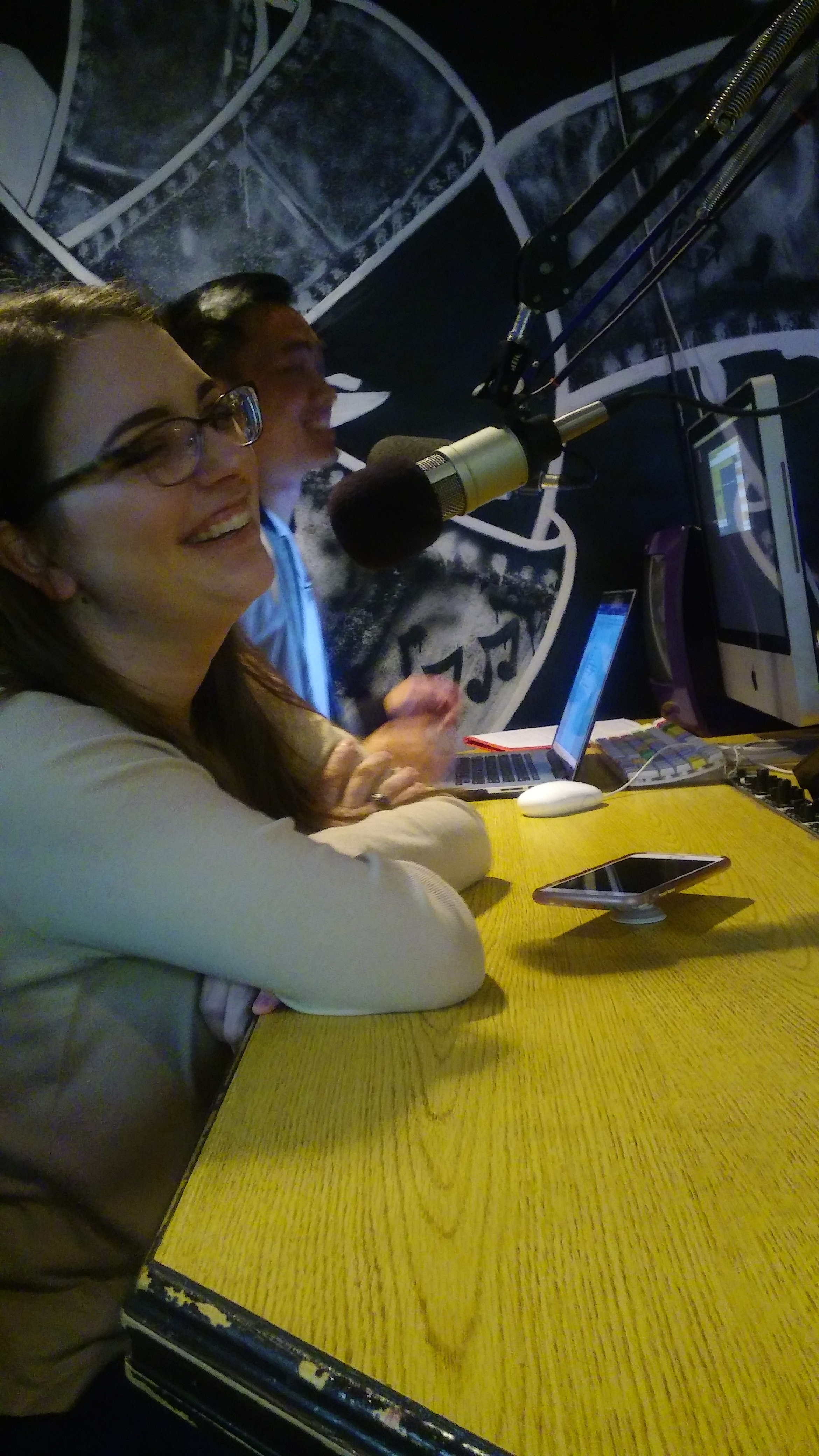 Harley Watkins' guests, Danielle and Adam, on her Friday edition of Alpha and Omega