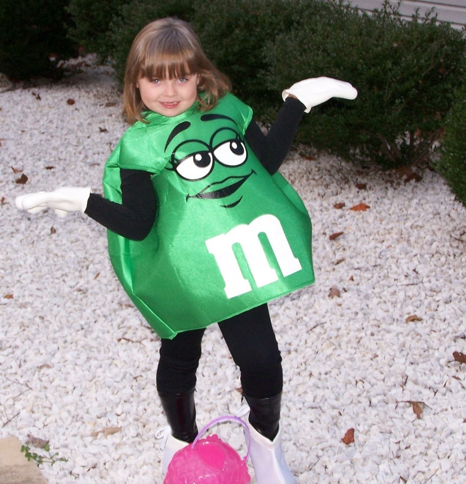 Taylor Deaton (freshman) dressing as her favorite candy, a chocolate M&M.