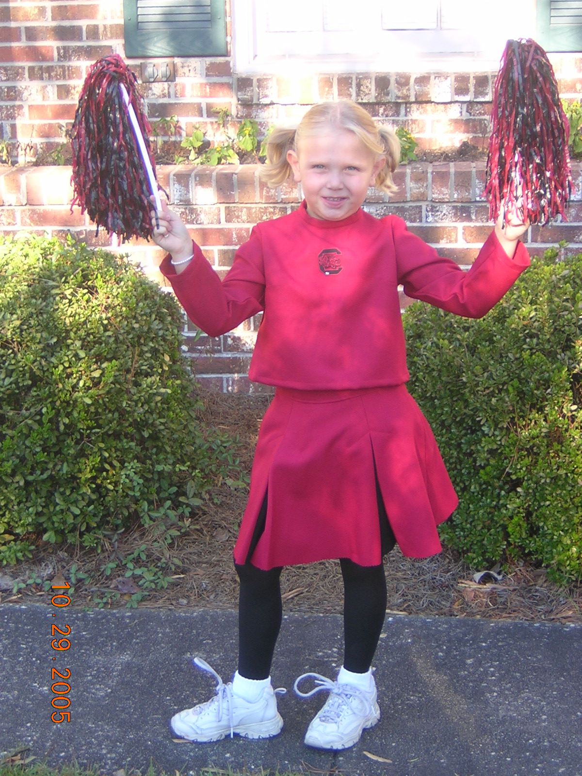 Mary Collins (freshman) dresses as her favorite sports team the Carolina Gamecocks.