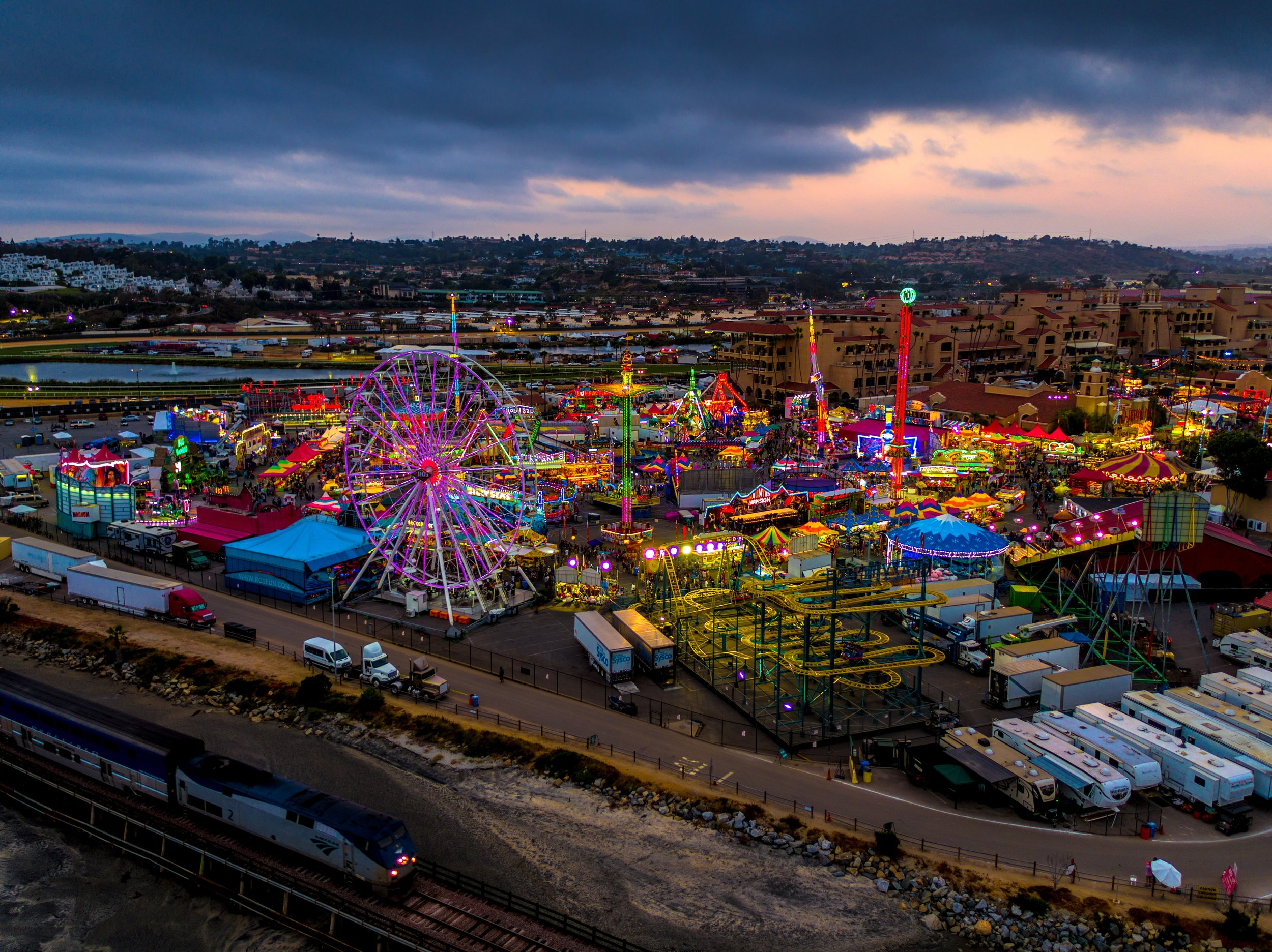 State fair at night.  Source: unsplash.com