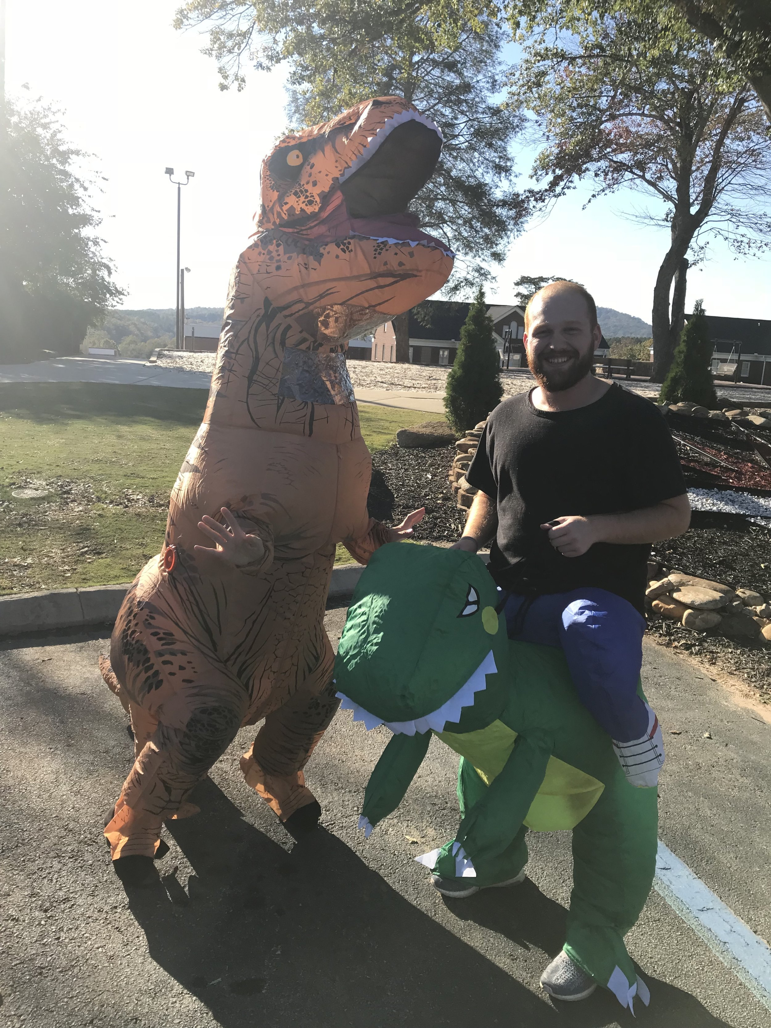 On occasion, Danny has the opportunity to meet a new dinosaur friend.