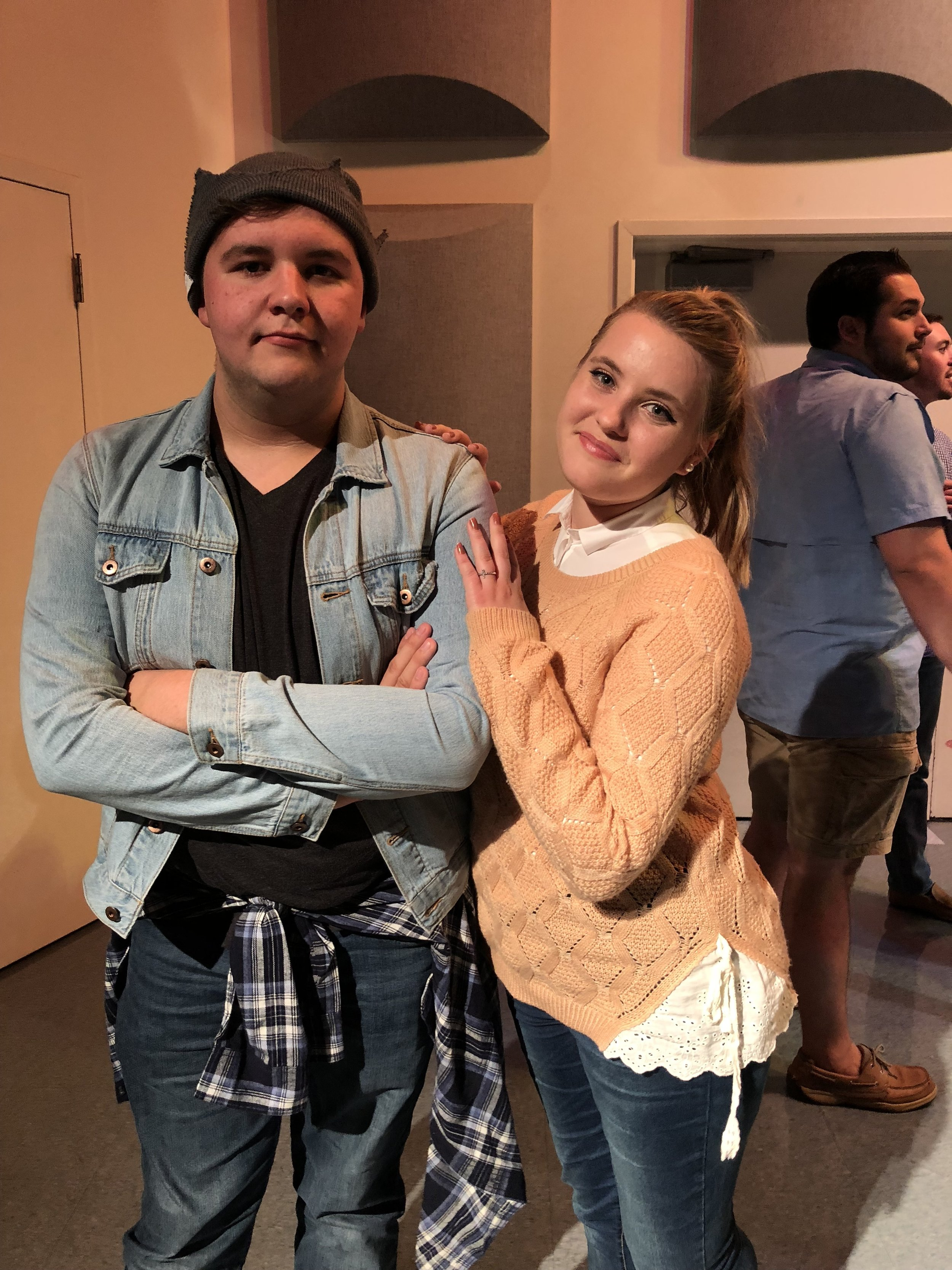 Freshmen Wyatt Duncan and Marlee Daniel pose as the popular couple from the CW's hit show: Riverdale.