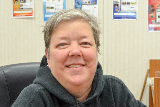 Leslie Brown, School Librarian: I usually get together with some friends from church and we have a big party. We have a big potluck and enjoy the party.