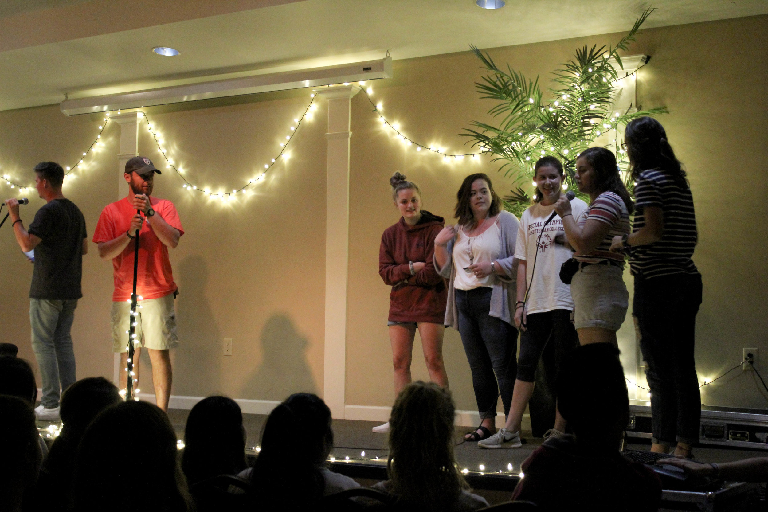 A contest was put on during the coffeehouse. The first five students to follow NGU student activities on instagram won a gift card.