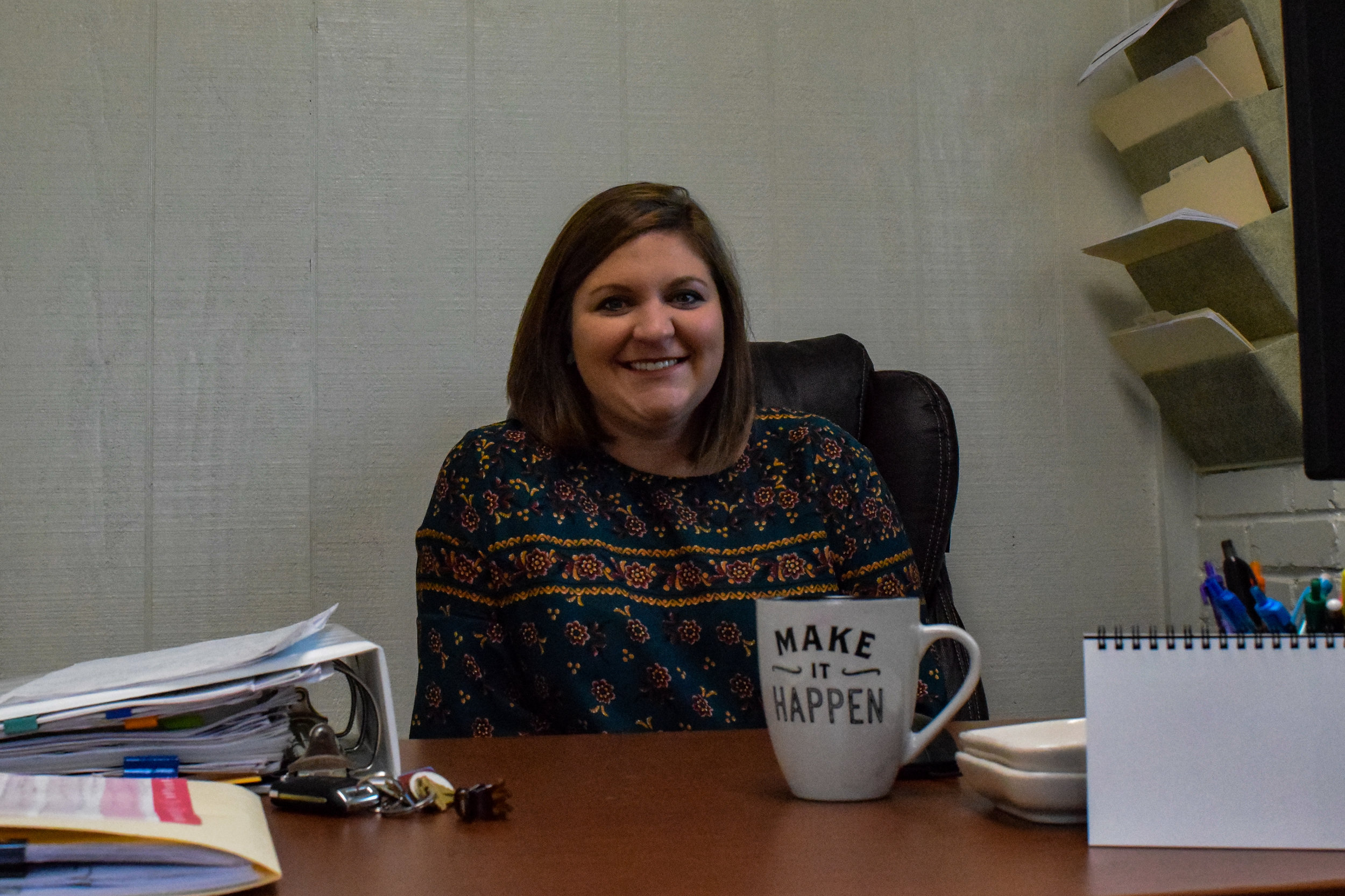This is Alicia Hyatt. She works as an academic counselor, but also teaches some reading classes at the school. Hyatt received her Bachelor's Degree in exercise fitness, but then worked at Winthrop as an academic counselor and realized her love for helping first generation college students through college.