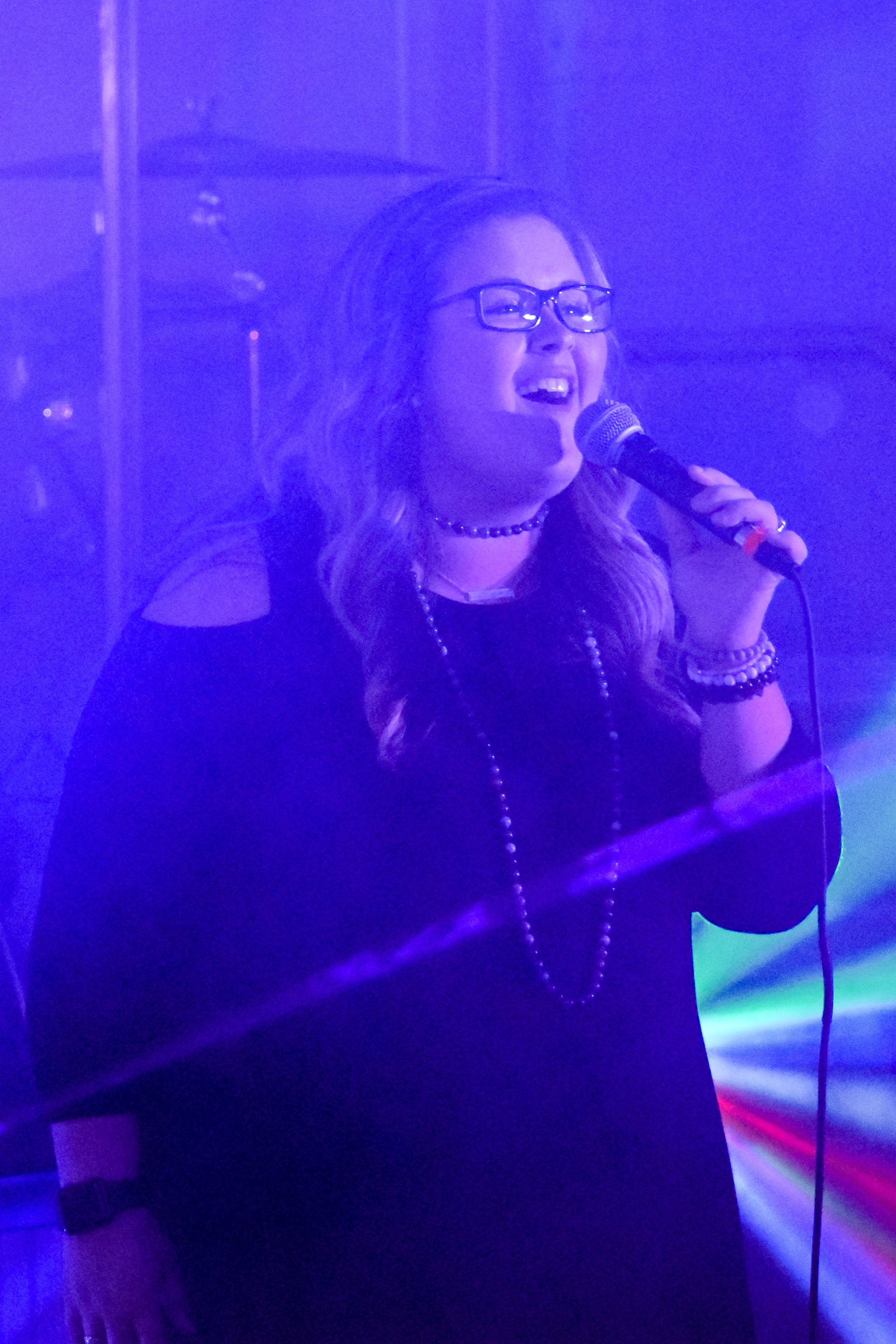 Senior, Cameron Burroughs, shows the passion she has for singing about the Lord.