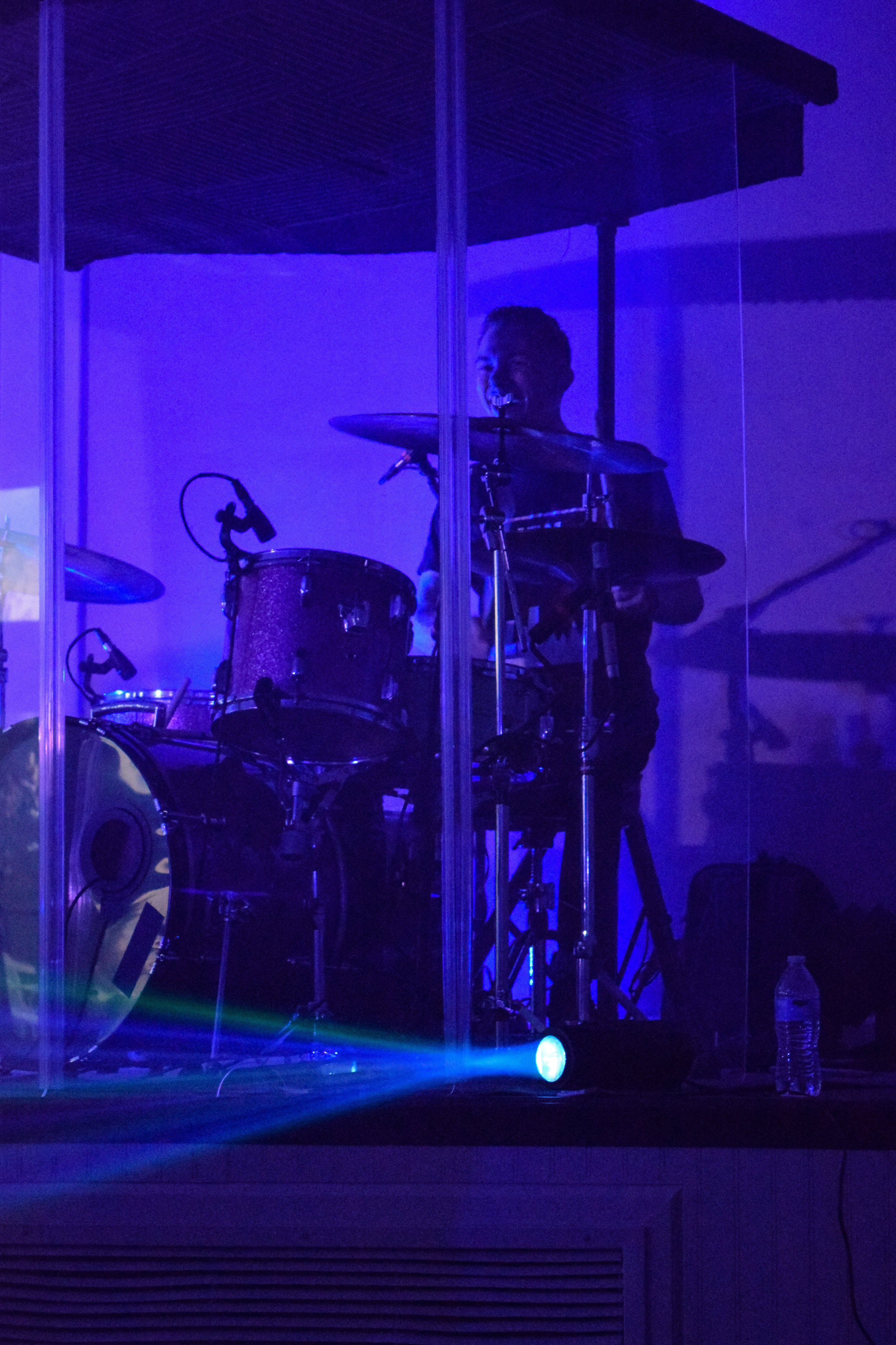 Drummer and NGU alumni, Shane Nelson, expresses his joy for playing the drums for the band.