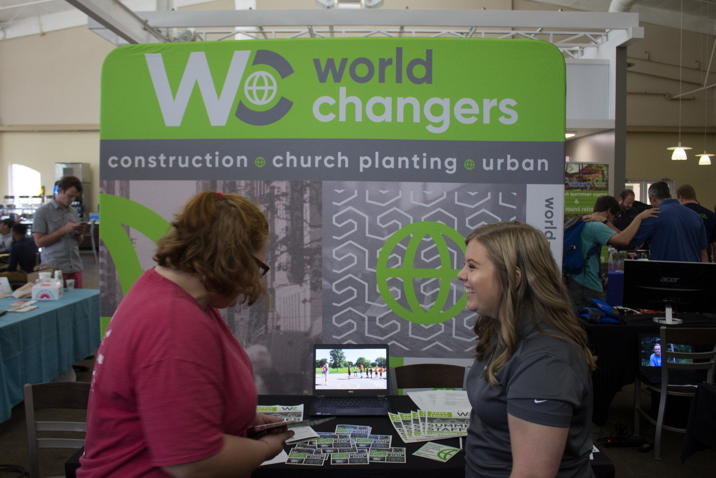 Former NGU student and program specialist, Megan Conley, recruiting North Greenville University students for world changers.