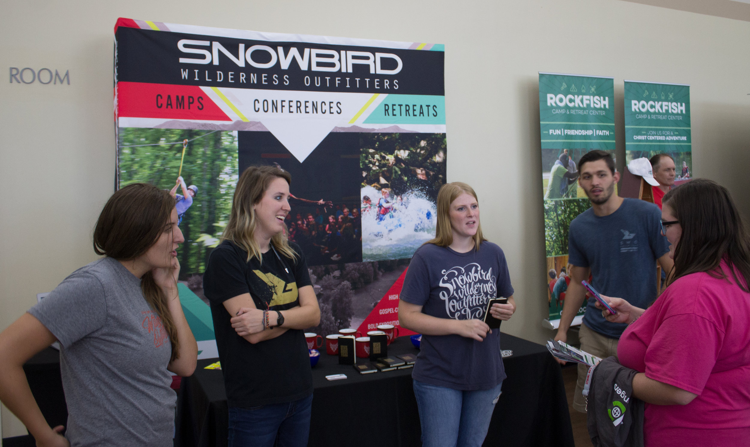 Snowbird Wildnerness Outfitters recruiters, Austin, Bridget, Tara and Karrie gleefully talk about what it's like to work at their camp.