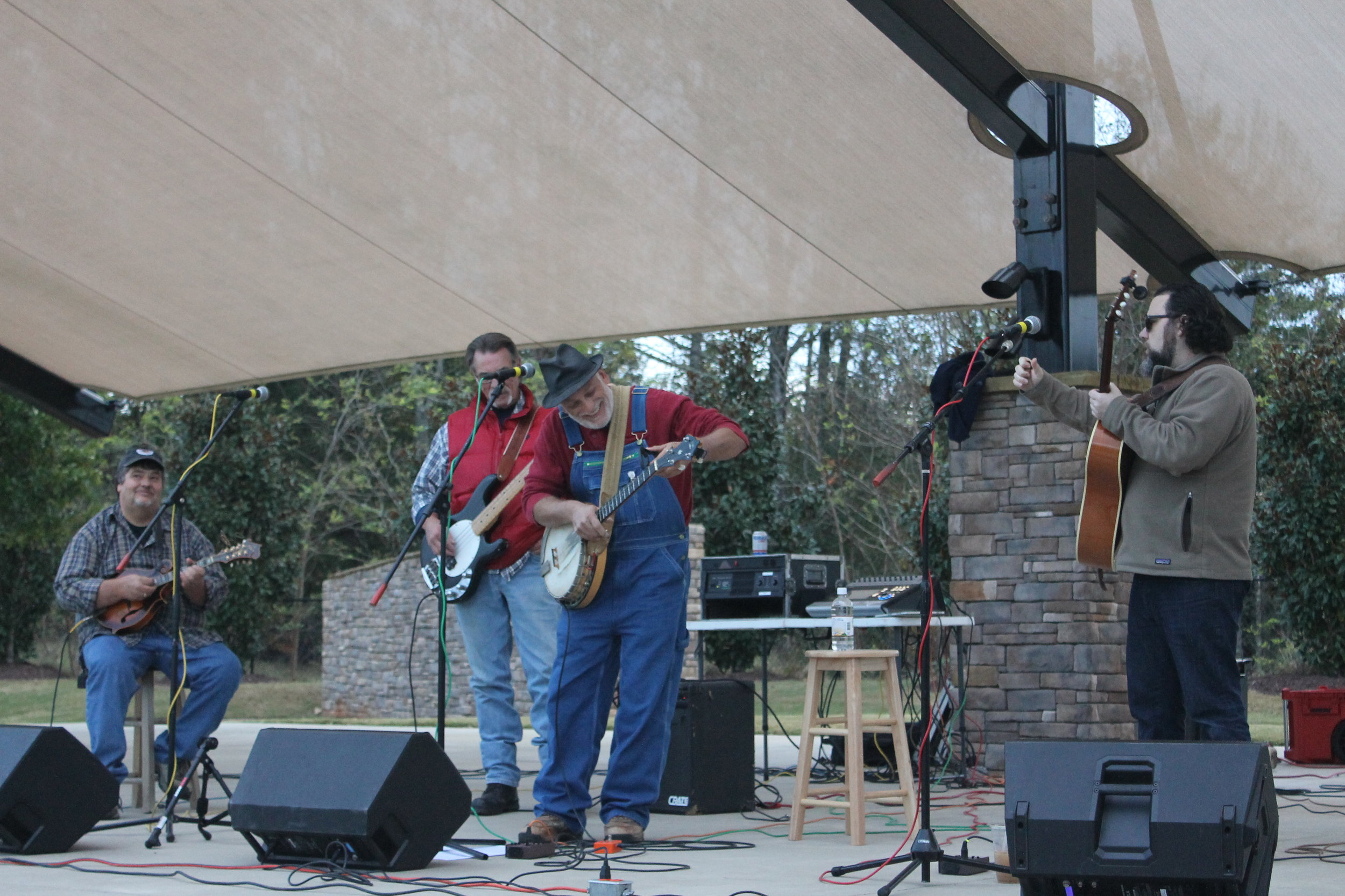 The bluegrass band, Grassbackerds, was the act for the evening.