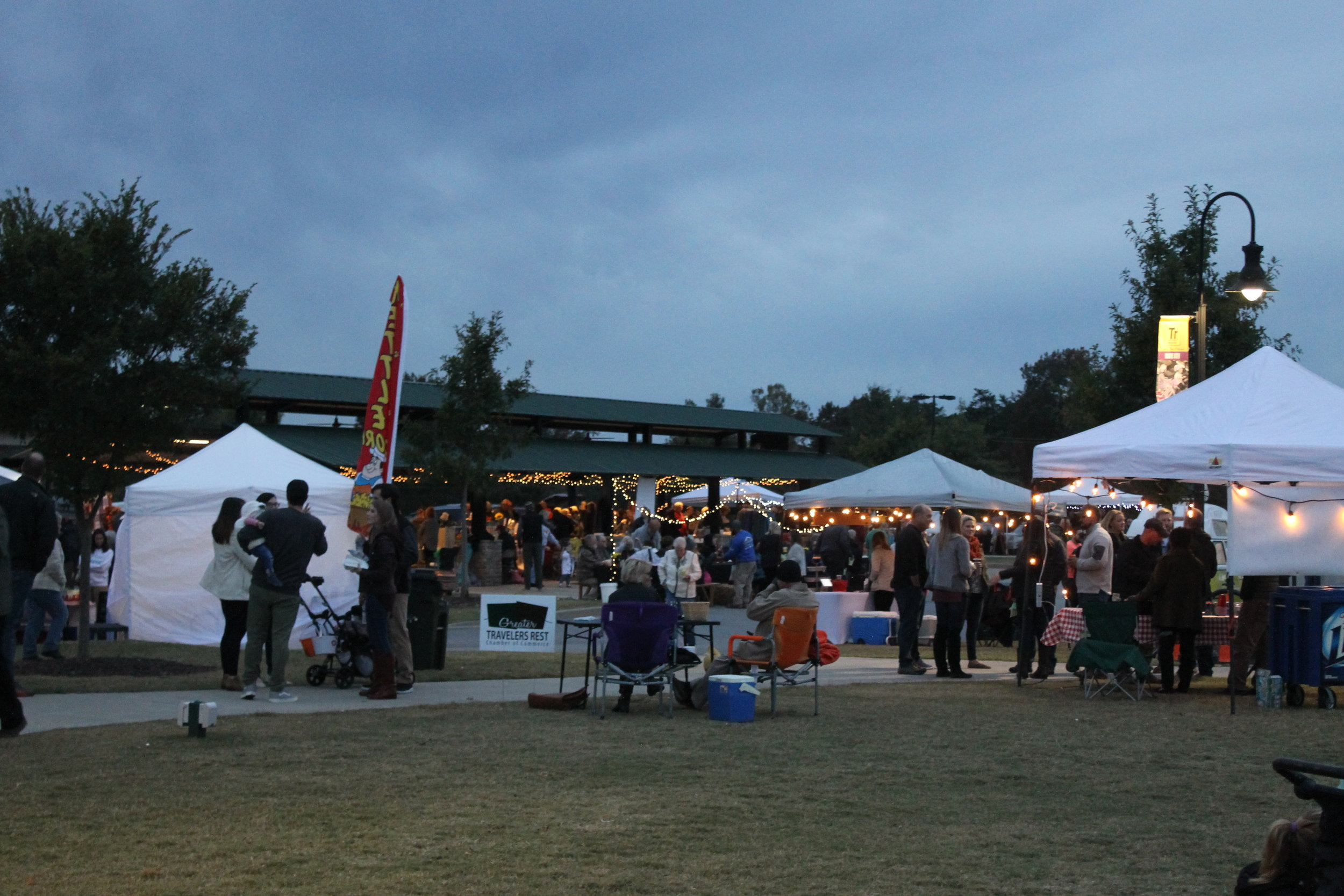 Many showed up to hear the band and all the local food and fun the market had to offer.