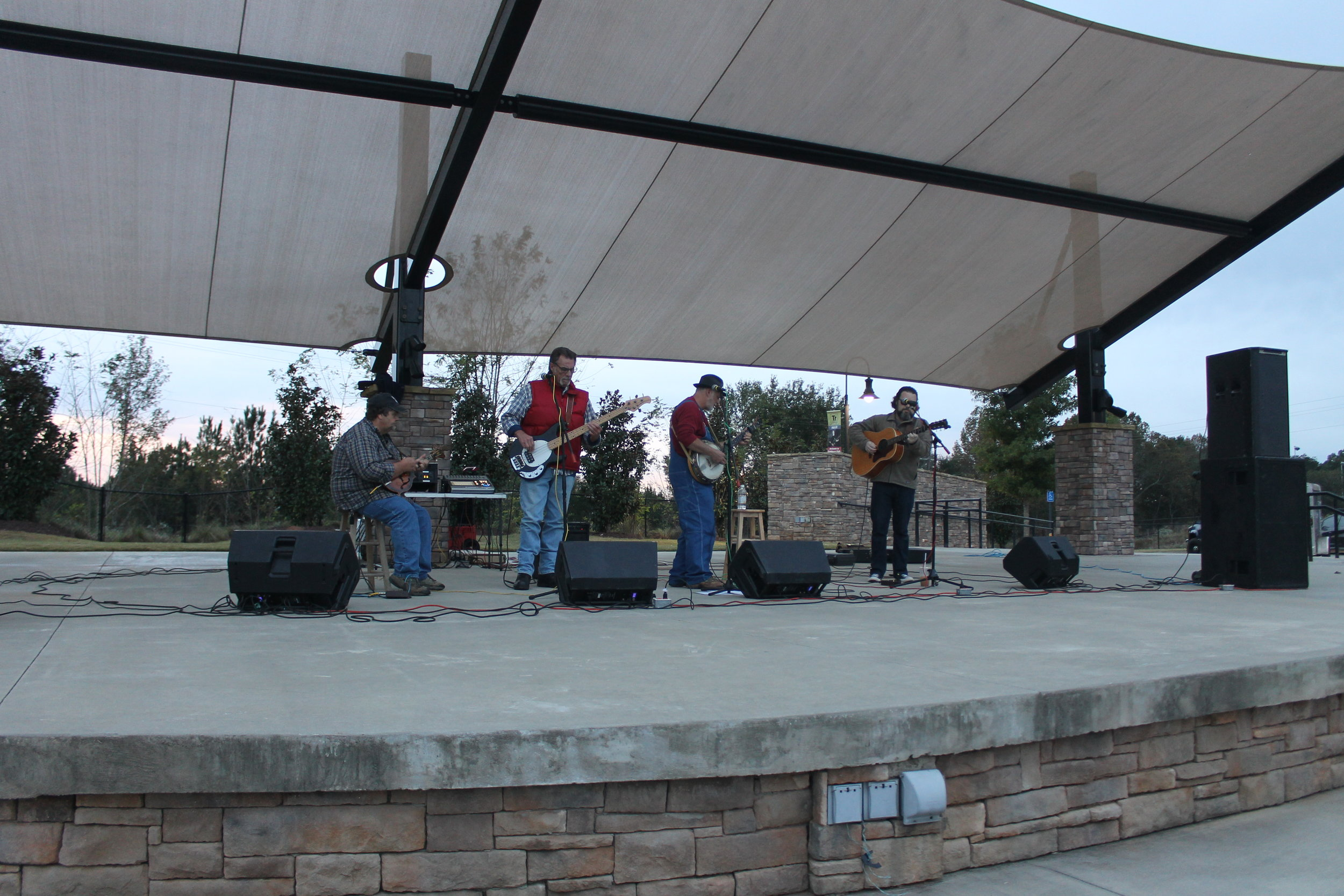 The Grassbackers performed late in to the night as the festival continued.