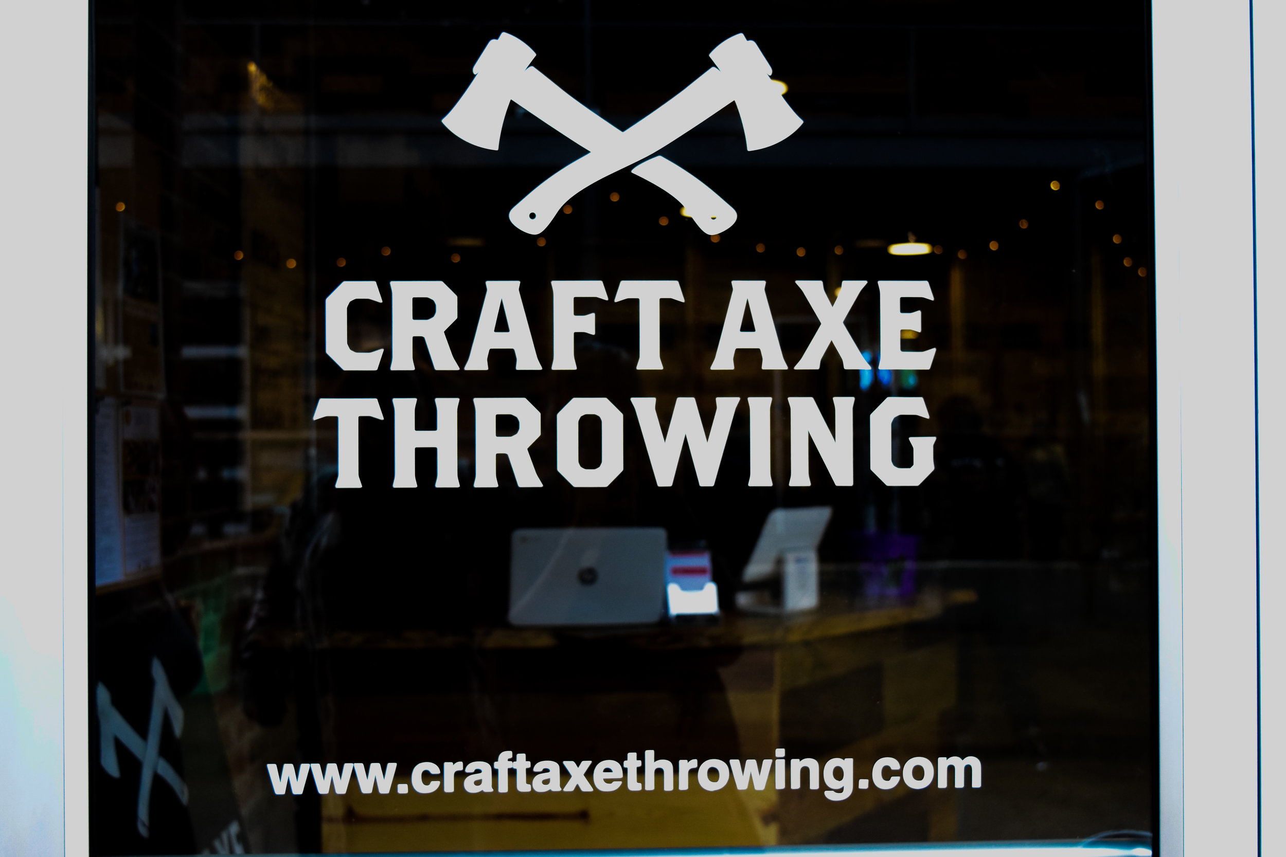 Front door of Craft Axe Throwing