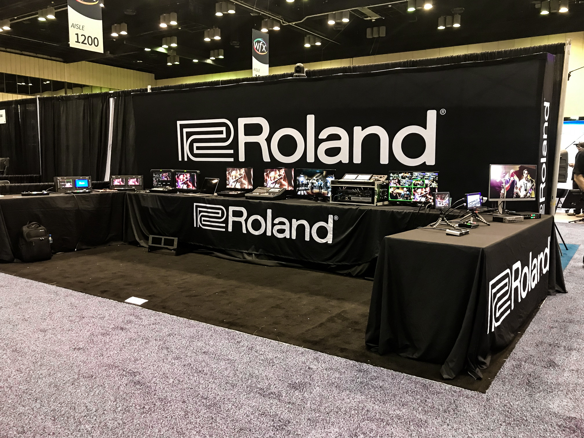 Roland is a company that sells electrical instruments and synthesizers to enhance a worship service. They displayed their different products for onlookers to try out.