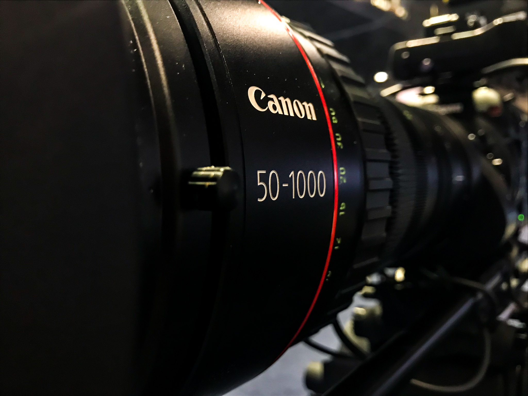 Canon was at the conference showing off some of their newest cameras.