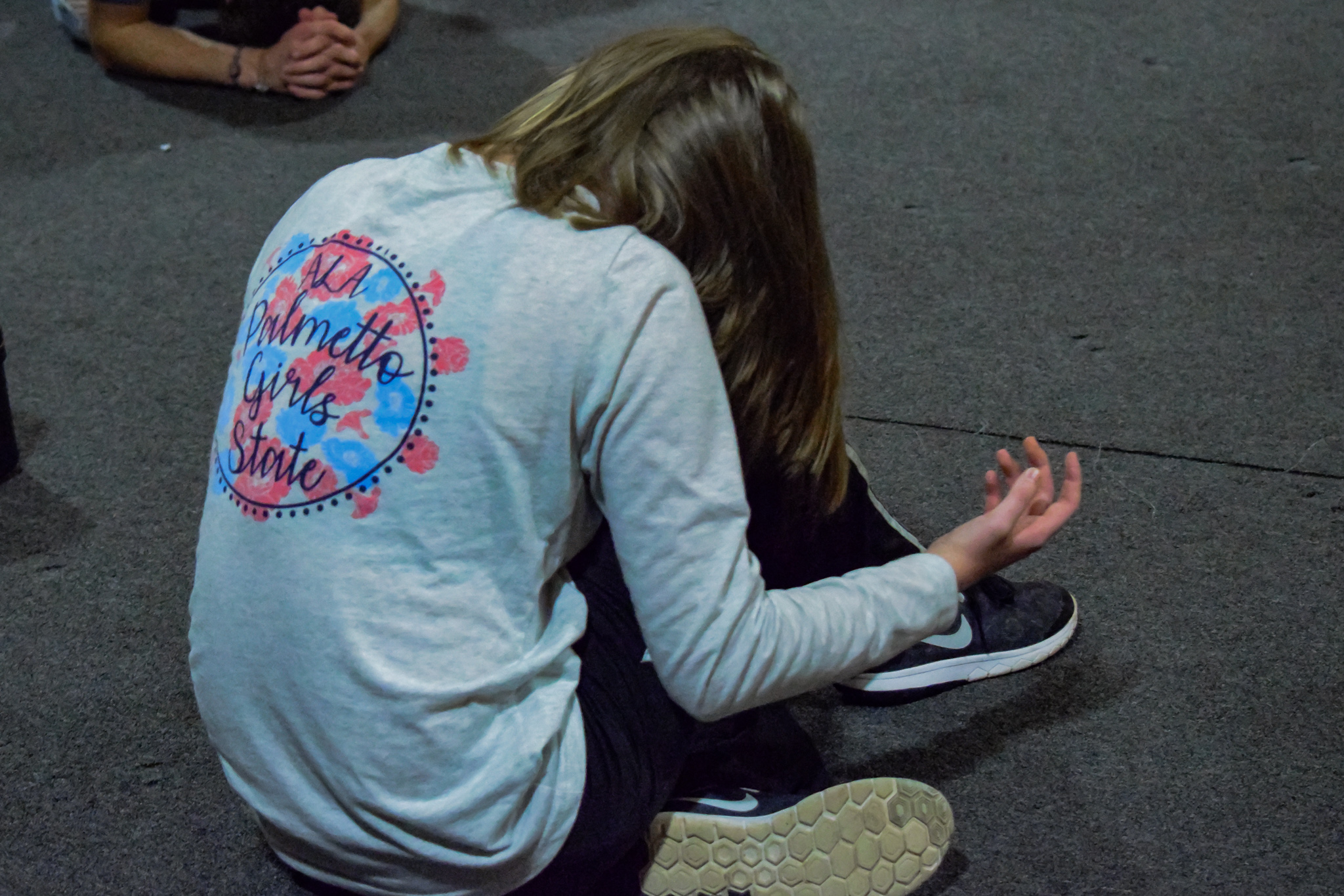 Sophomore, Eden Cassell feels the Spirit moving as they continue to pray over the school and student body.