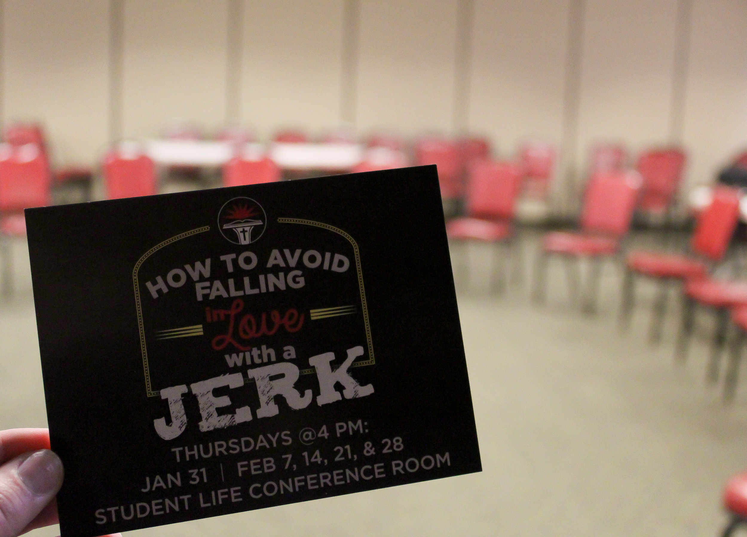 """On January 31st, """"How to Aviod Falling in Love with a Jerk"""" held their first class."""
