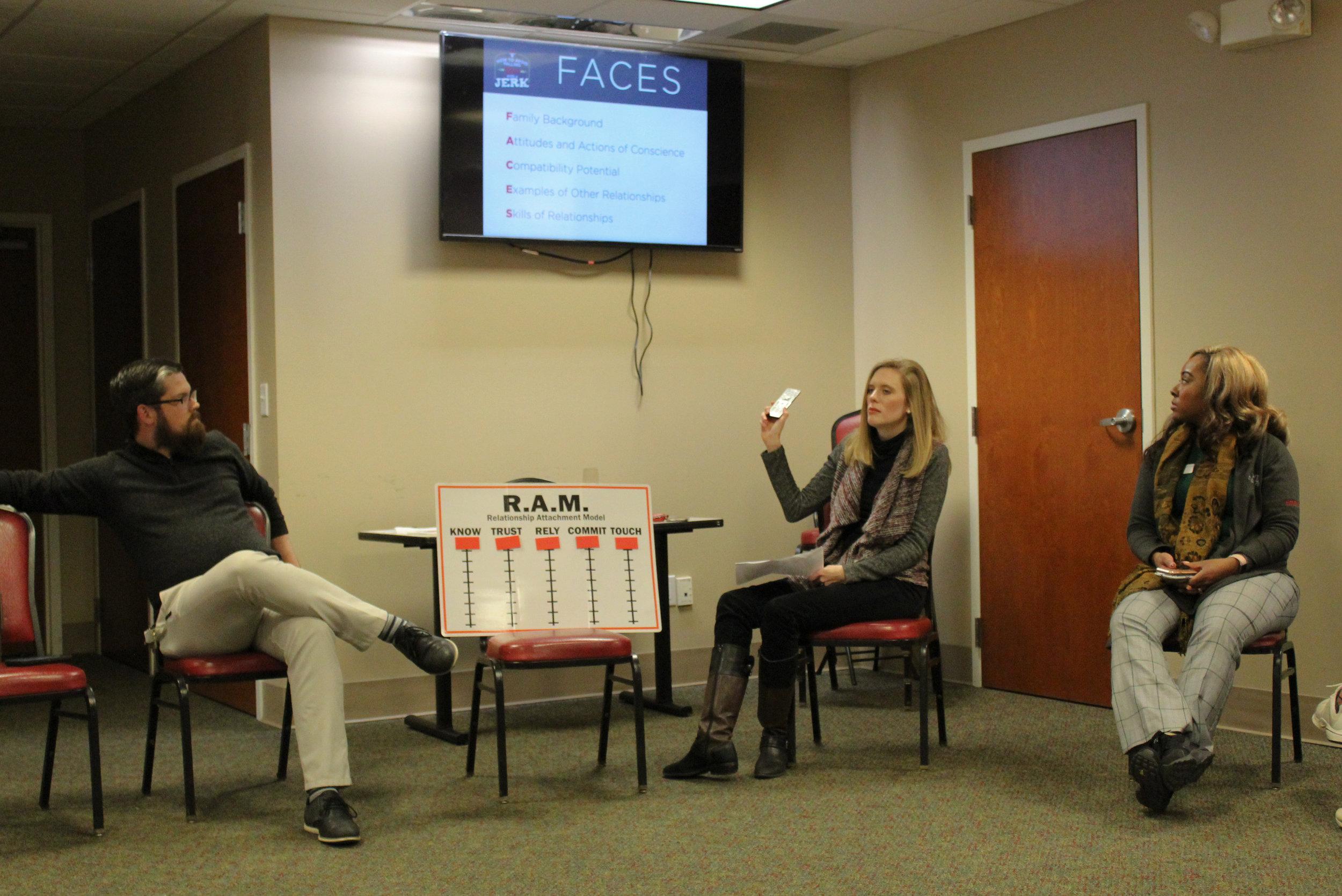 Faculty Mr Jared Thomas, Mrs. Black and Mrs. Jarrett describe the seminar's purpose.
